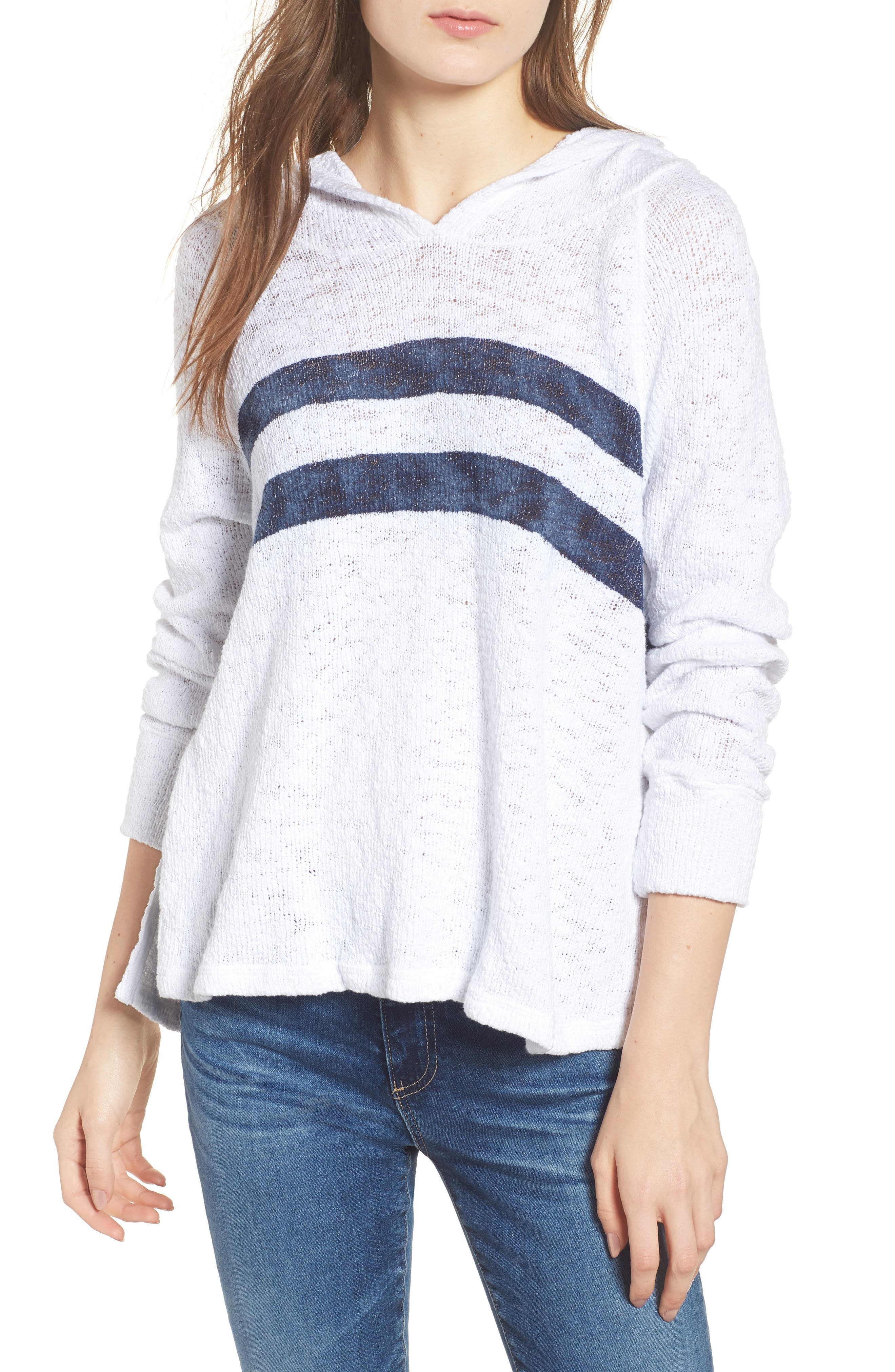 Sundry Loose Knit Hooded Sweater