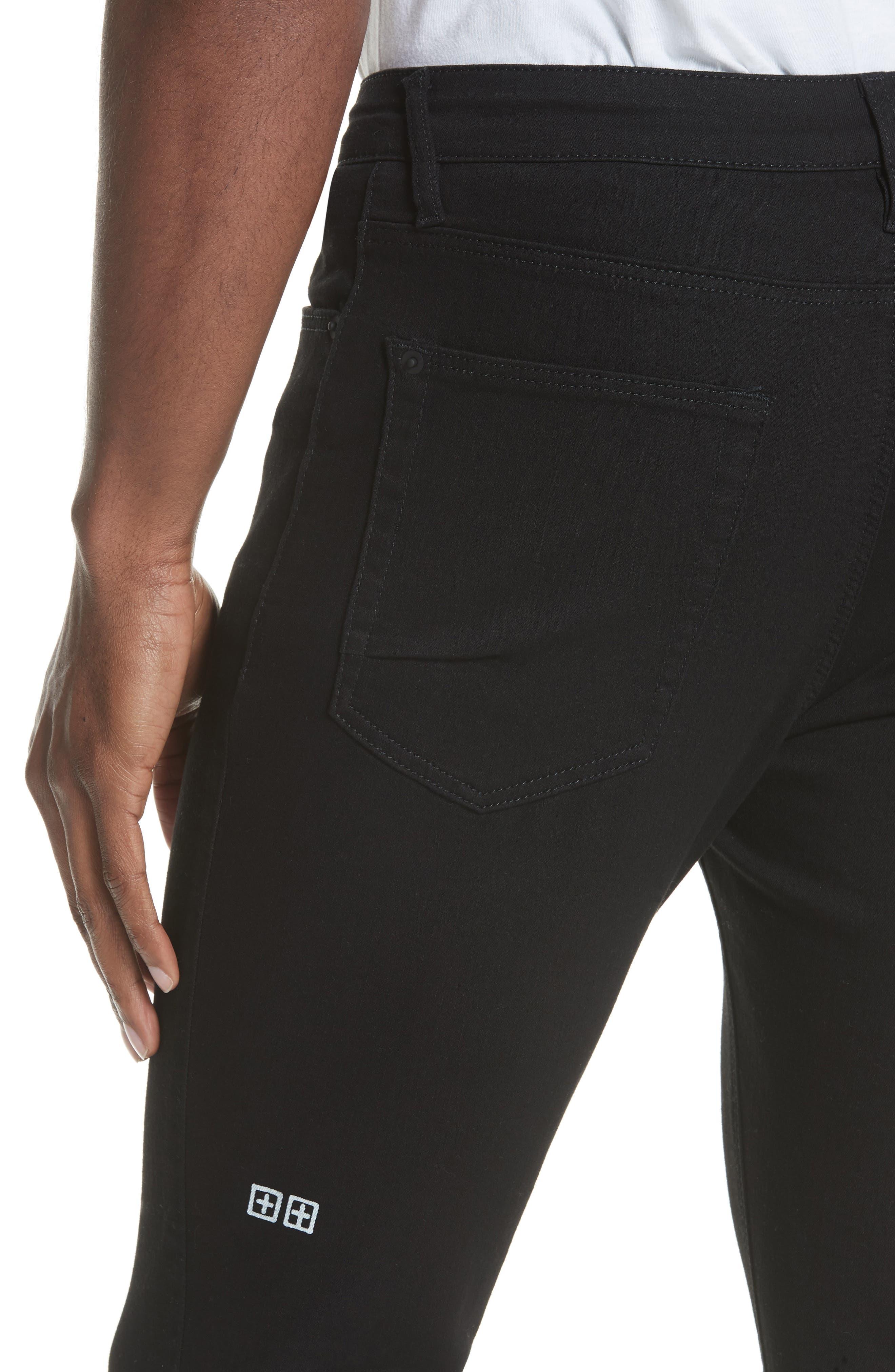 Van Winkle Black Rebel Skinny Fit Jeans,                             Alternate thumbnail 3, color,                             Black