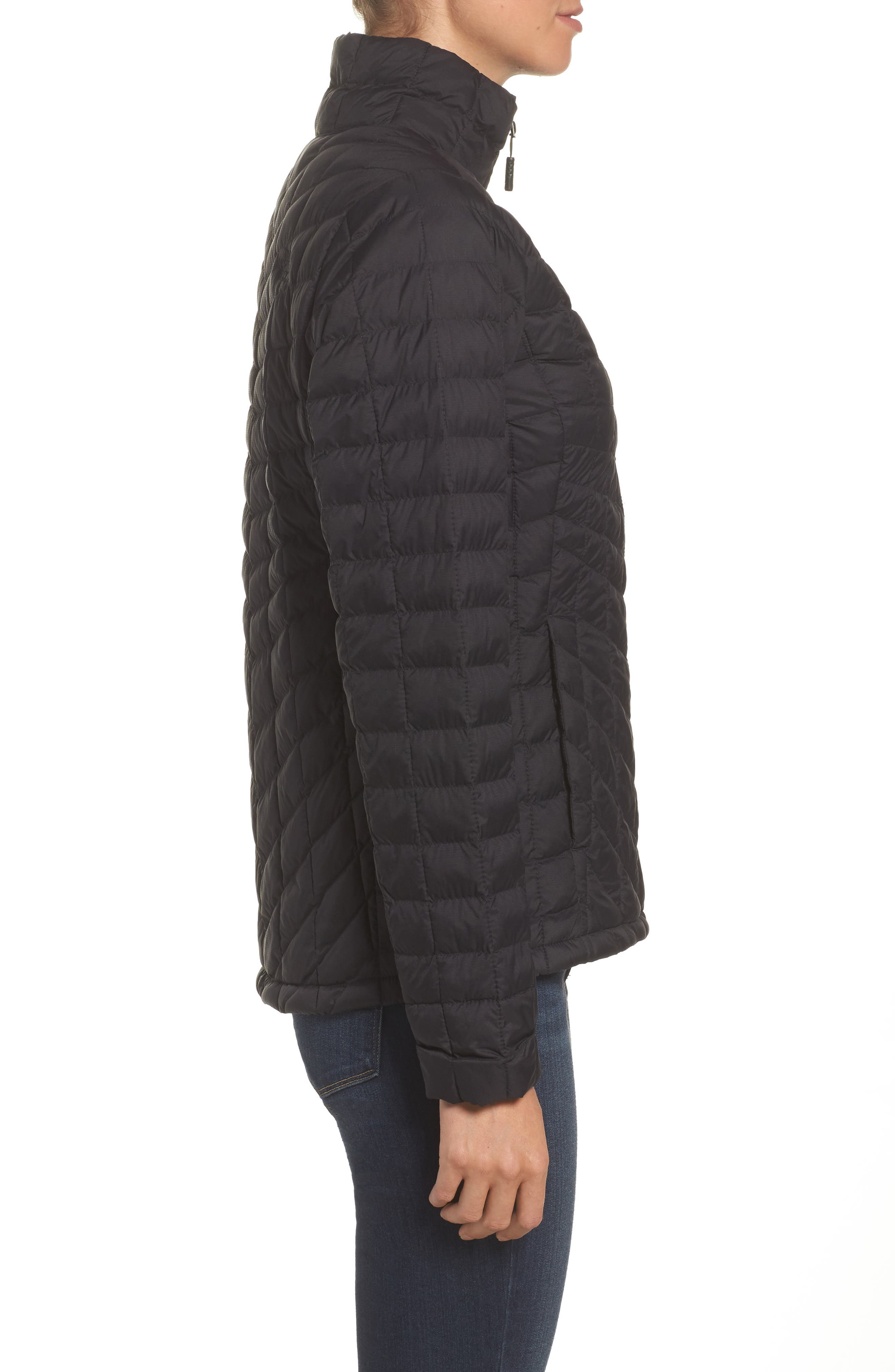 ThermoBall<sup>™</sup> Full Zip Jacket,                             Alternate thumbnail 3, color,                             Black Matte