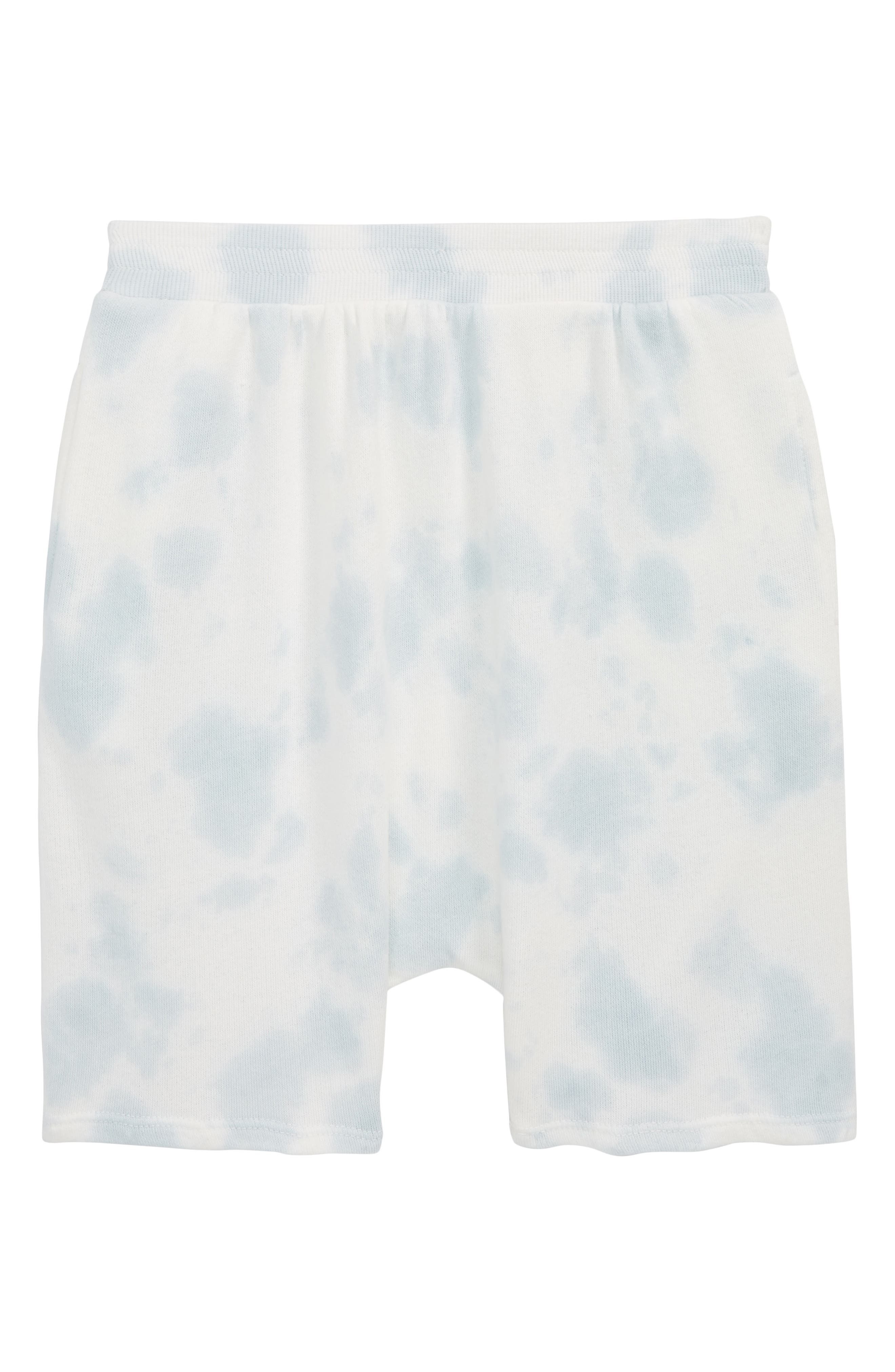 Tie Dye Shorts,                             Main thumbnail 1, color,                             Blue Fog Tie Dye