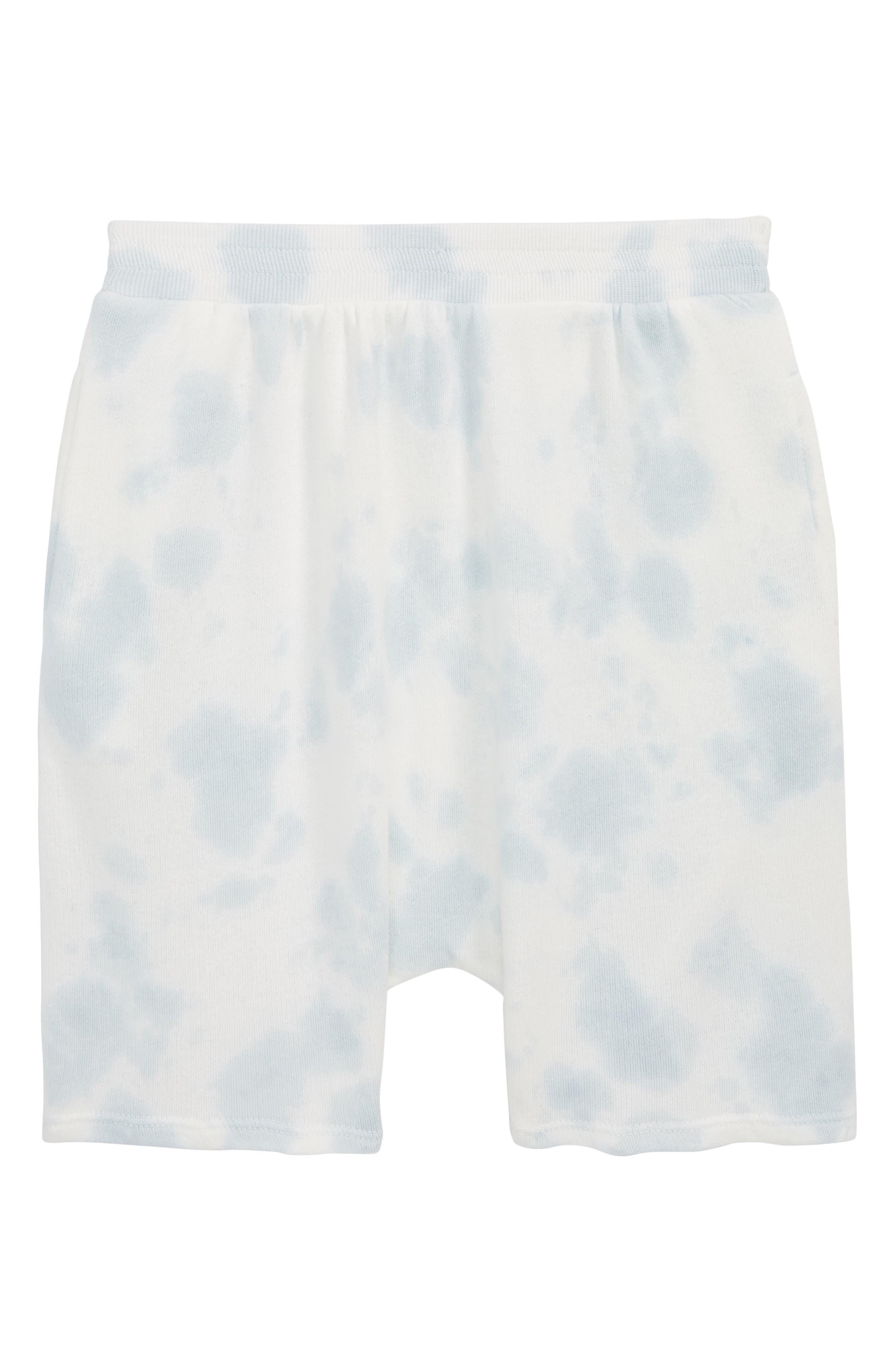 Tie Dye Shorts,                         Main,                         color, Blue Fog Tie Dye