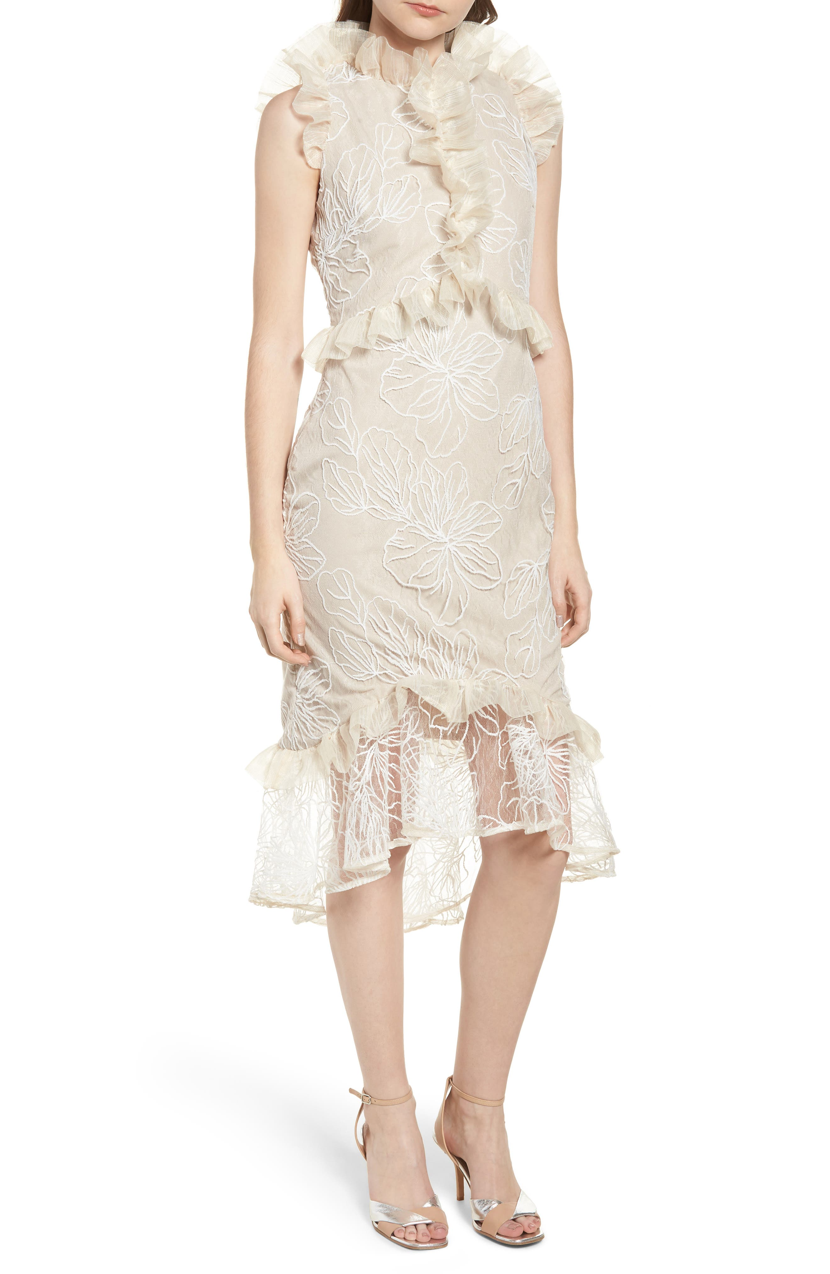 ELLIATT SERENA RUFFLE TRIM DRESS