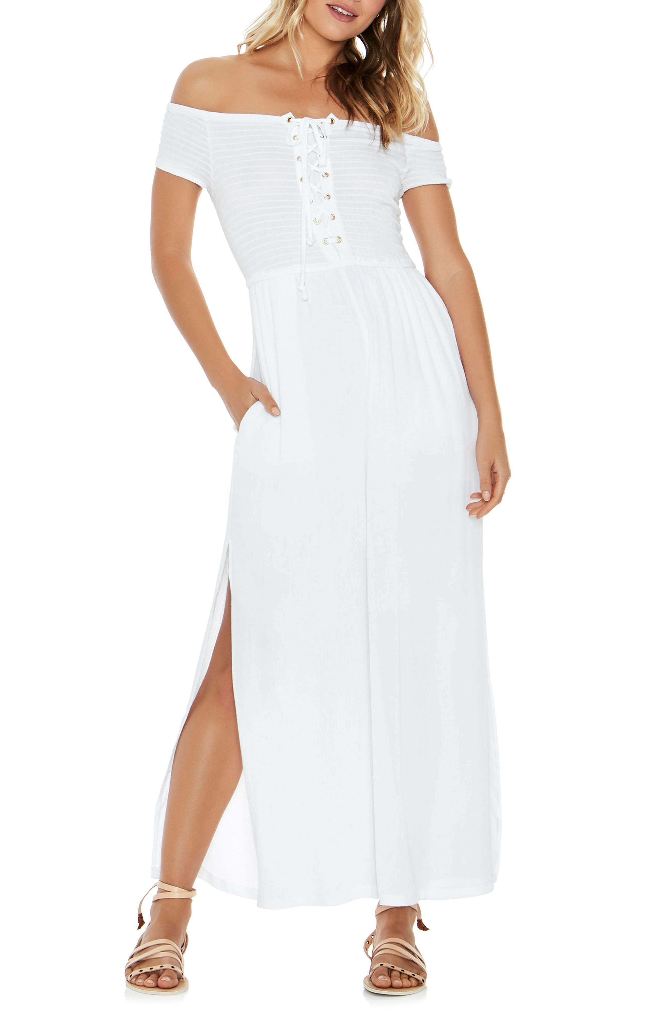 Sao Paulo Cover-Up Jumpsuit,                             Main thumbnail 1, color,                             White