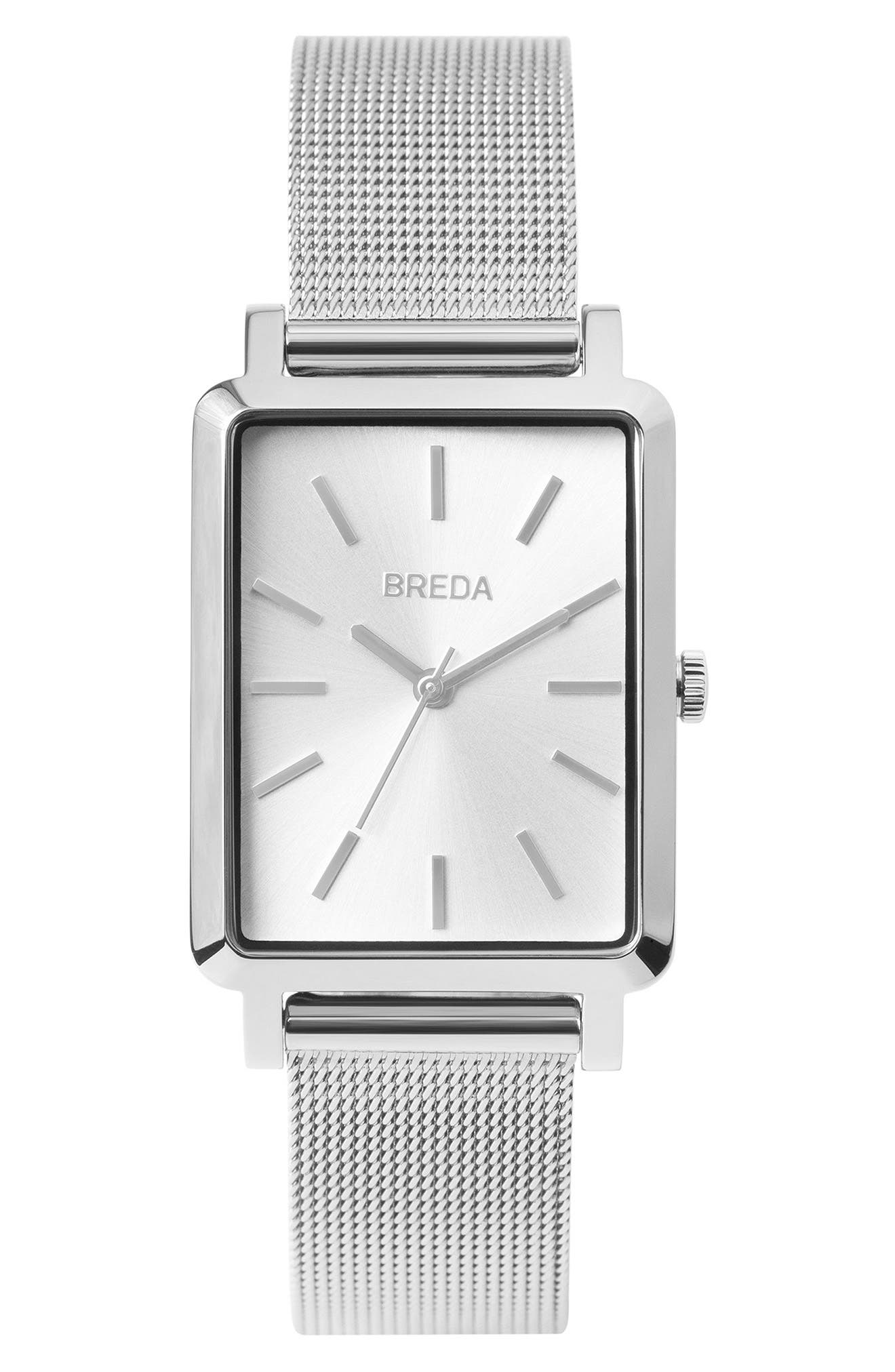 Baer Mesh Strap Watch, 26mm,                         Main,                         color, Silver