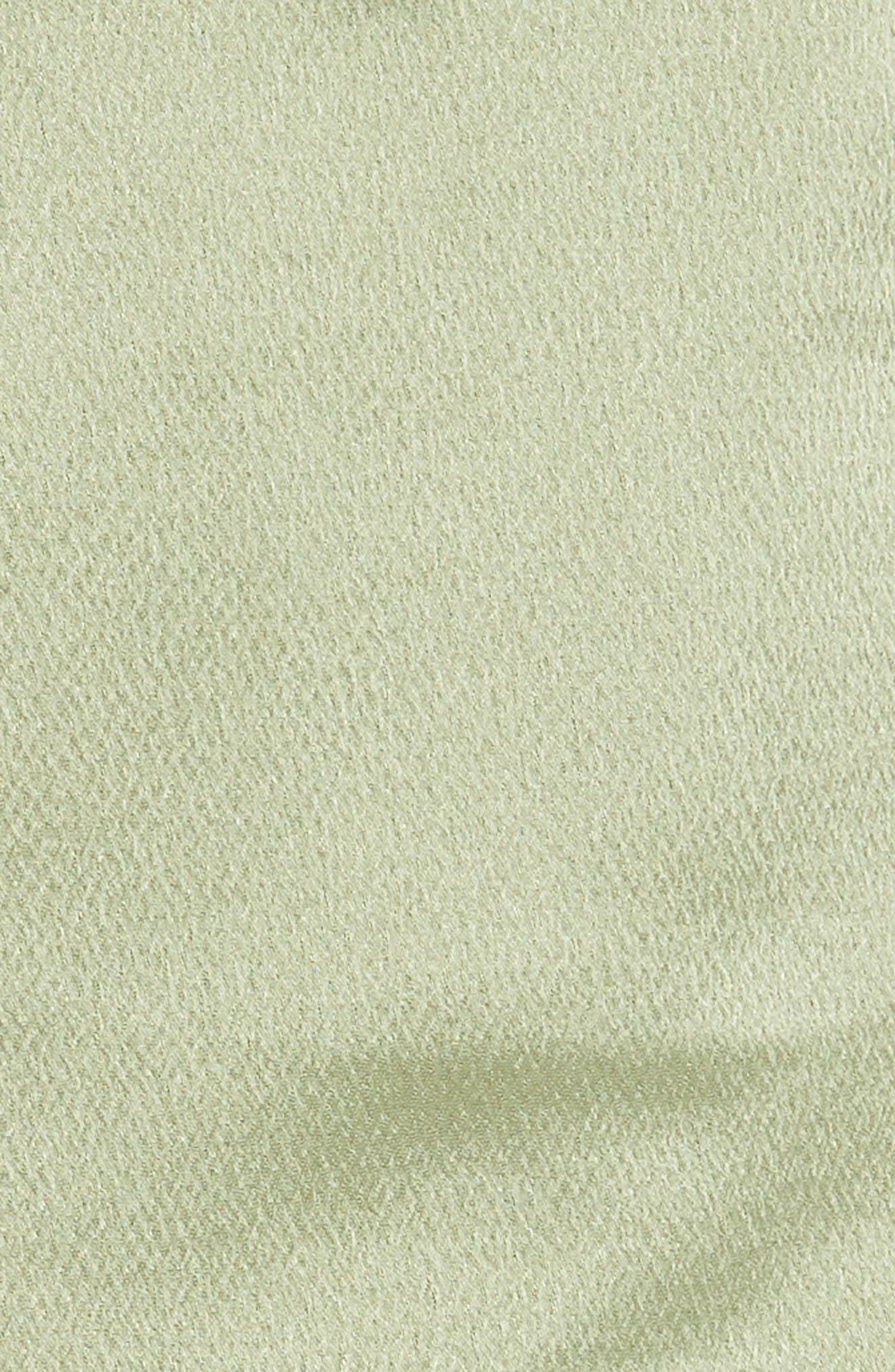 Satin Pocket Shorts,                             Alternate thumbnail 5, color,                             Green