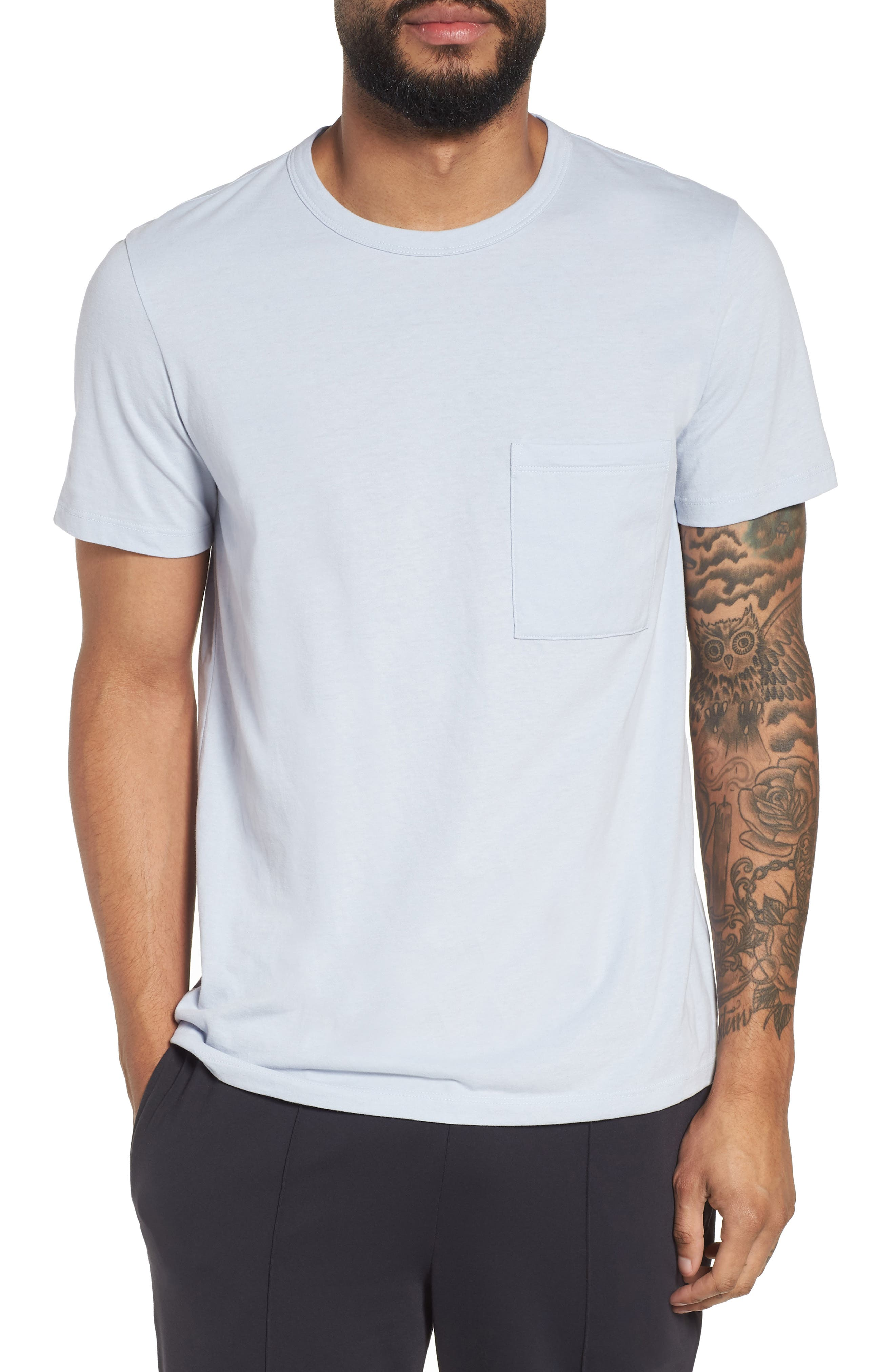Essential Pocket T-Shirt,                         Main,                         color, Glacier