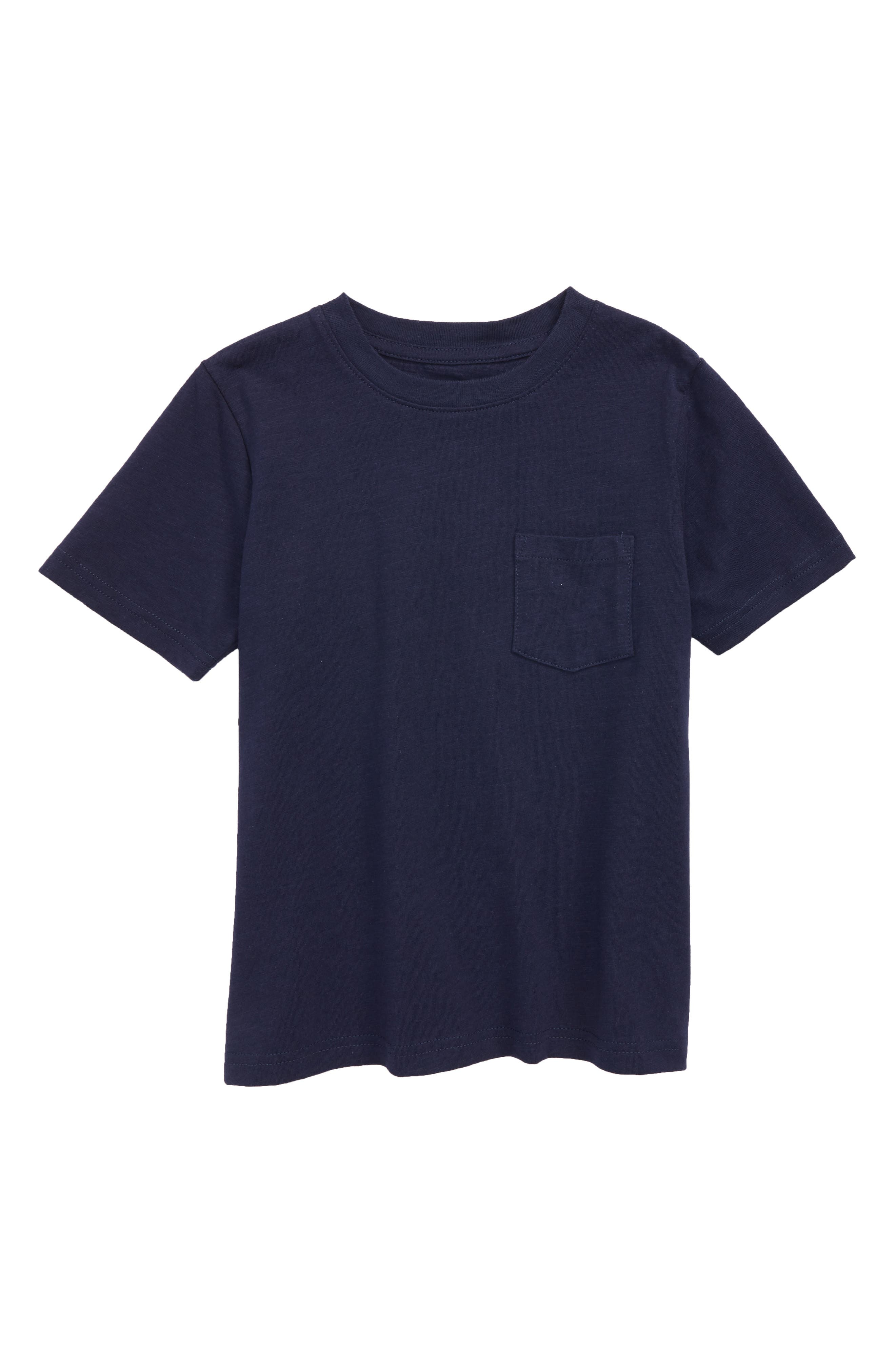 Slub Pocket T-Shirt,                         Main,                         color, Navy