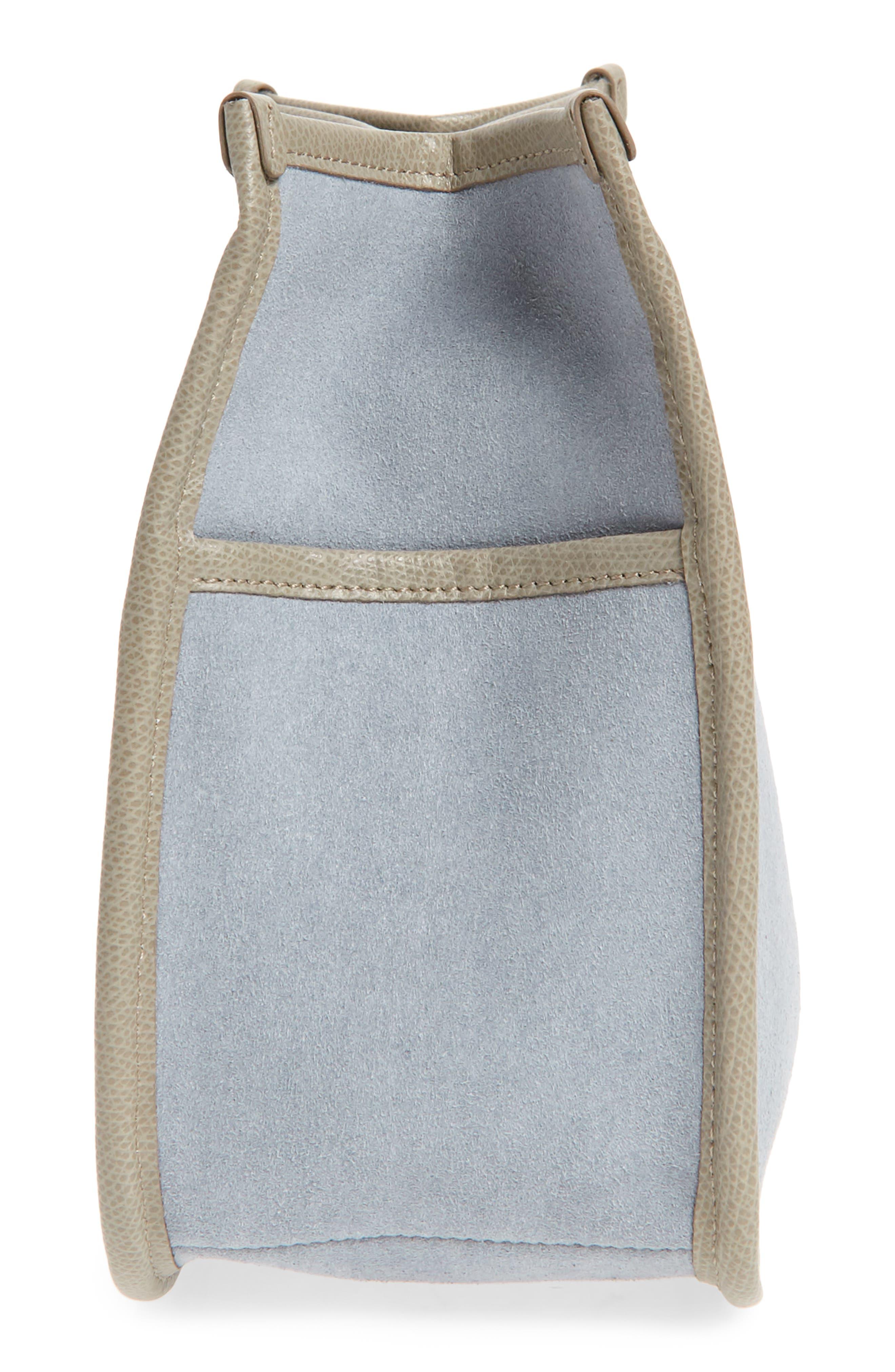 Caddy Microsuede Handbag Organizer,                             Alternate thumbnail 4, color,                             Sand