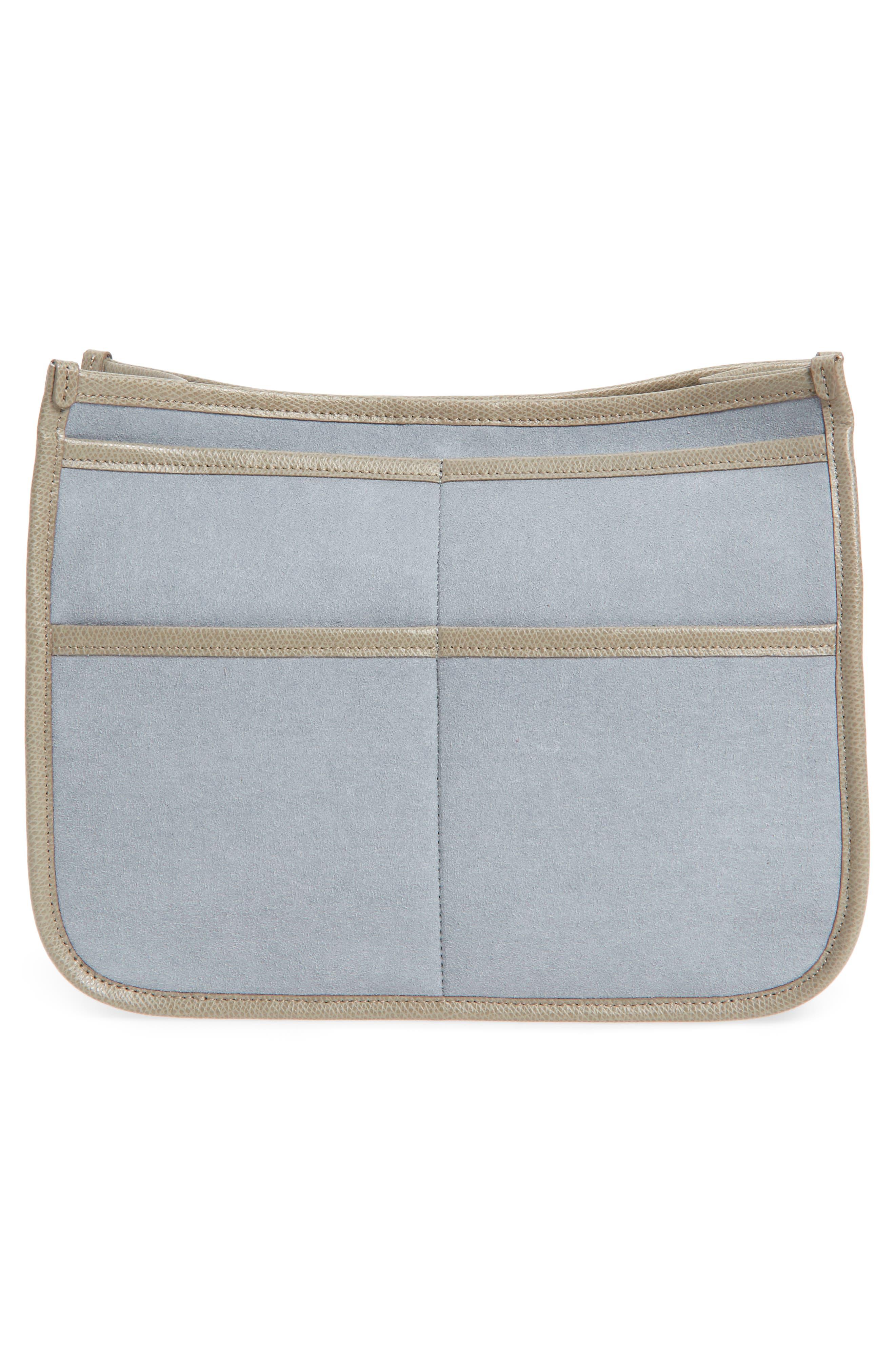 Caddy Microsuede Handbag Organizer,                             Alternate thumbnail 2, color,                             Sand