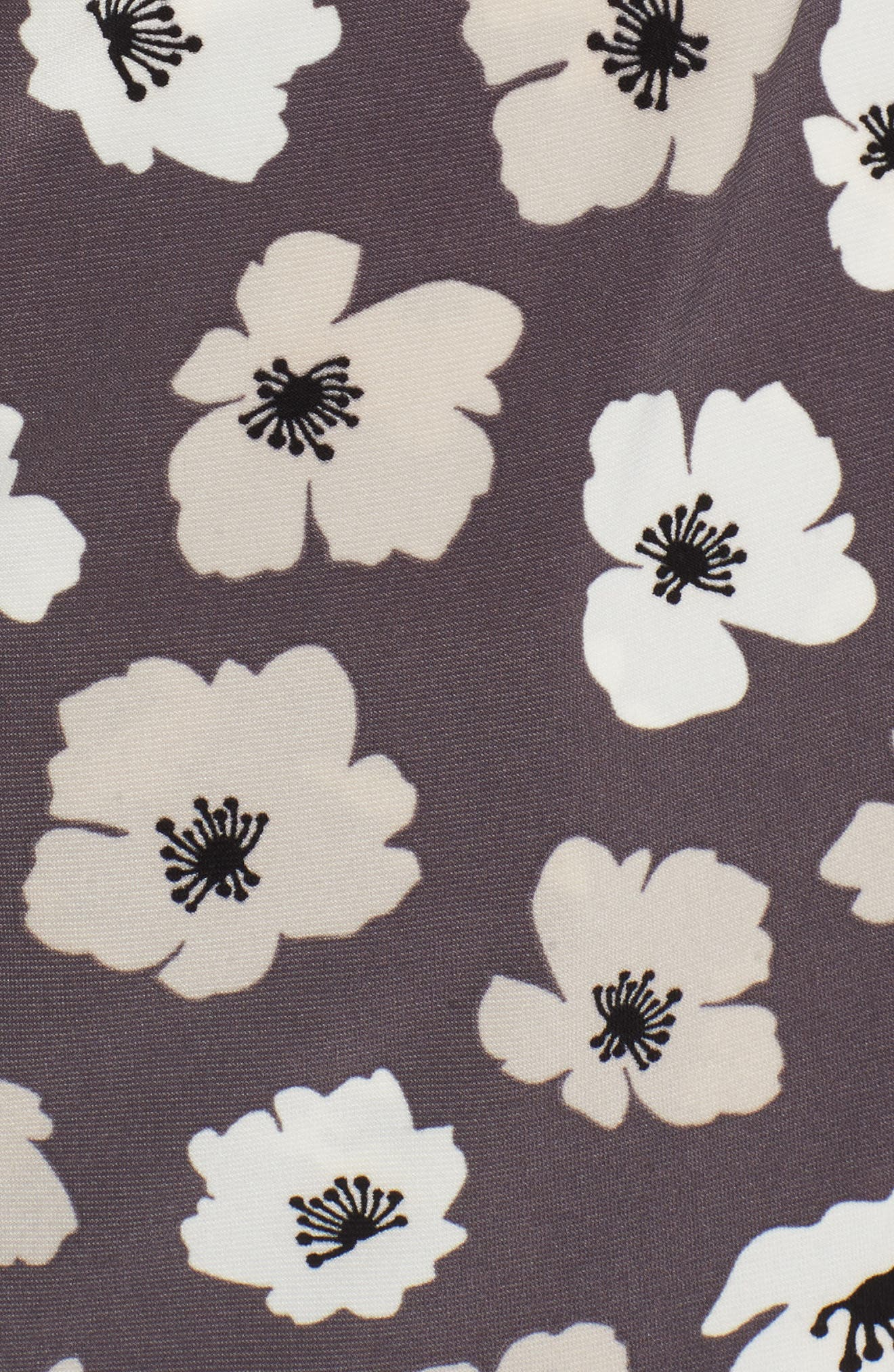 Faux Wrap Floral Top,                             Alternate thumbnail 6, color,                             Nantucket Grey/ Oyster Shell