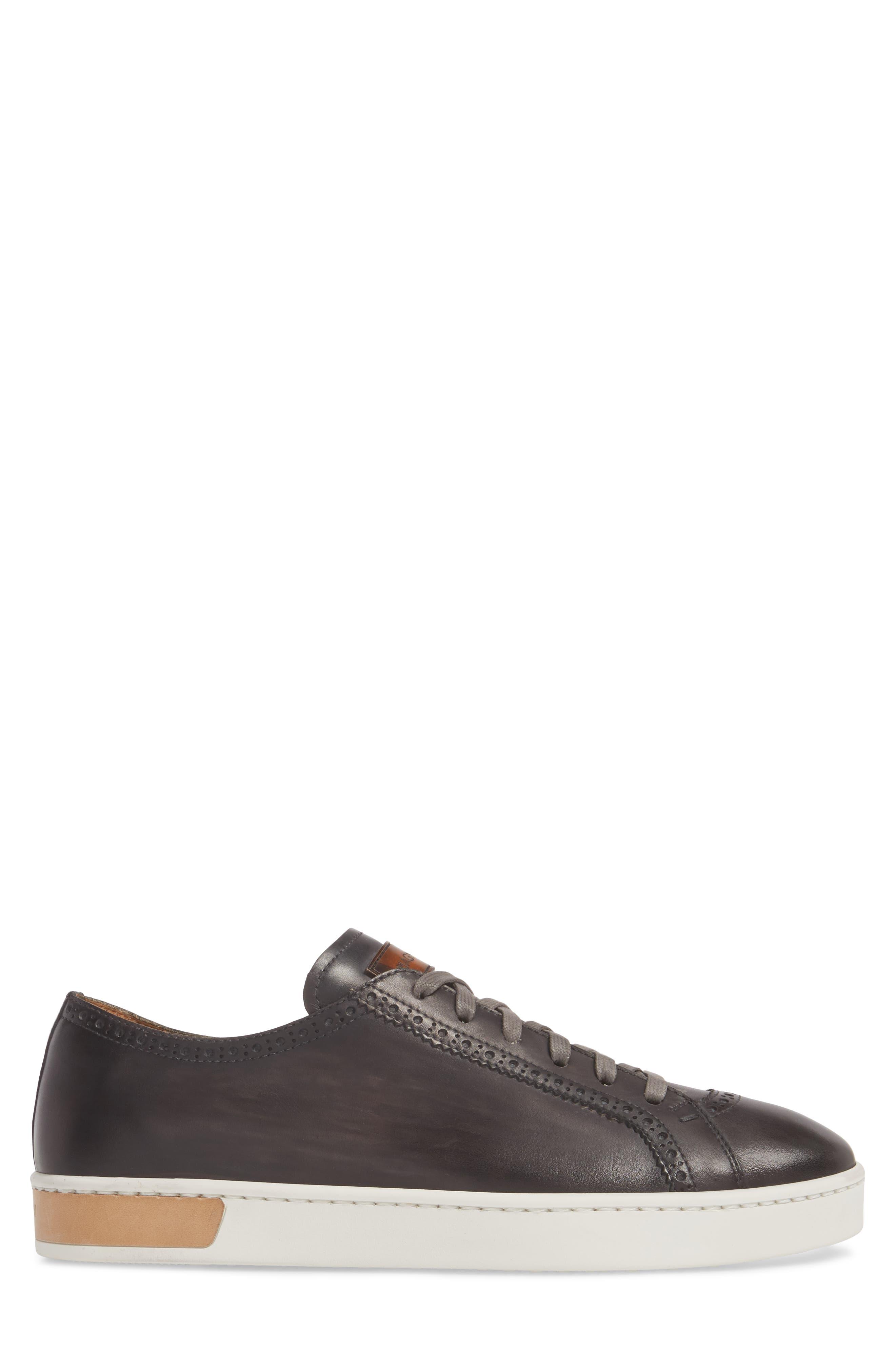 Juniper Brogued Low Top Sneaker,                             Alternate thumbnail 3, color,                             Grey Leather