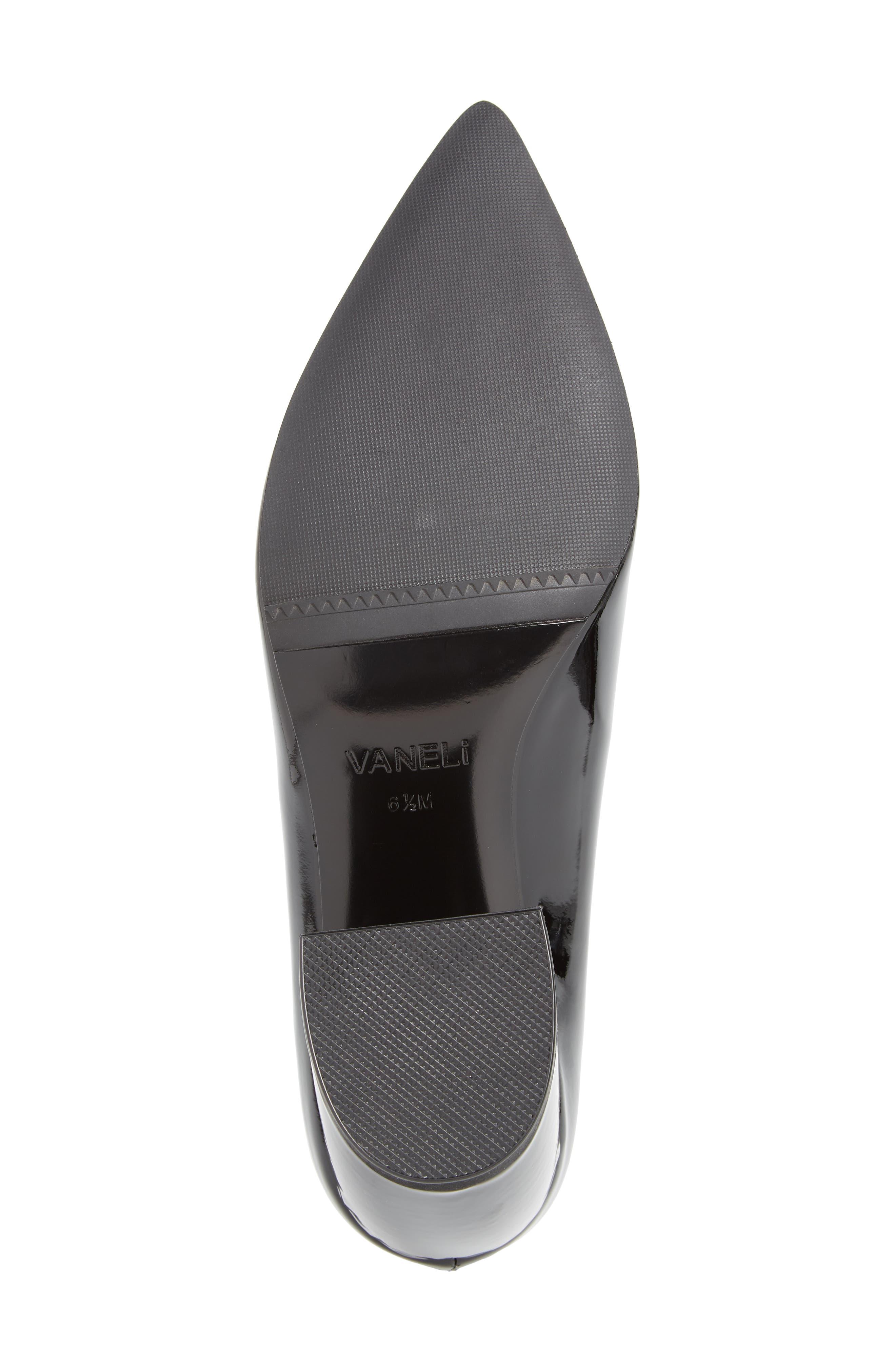 Remma Broken Heel Pump,                             Alternate thumbnail 6, color,                             Black Fabric