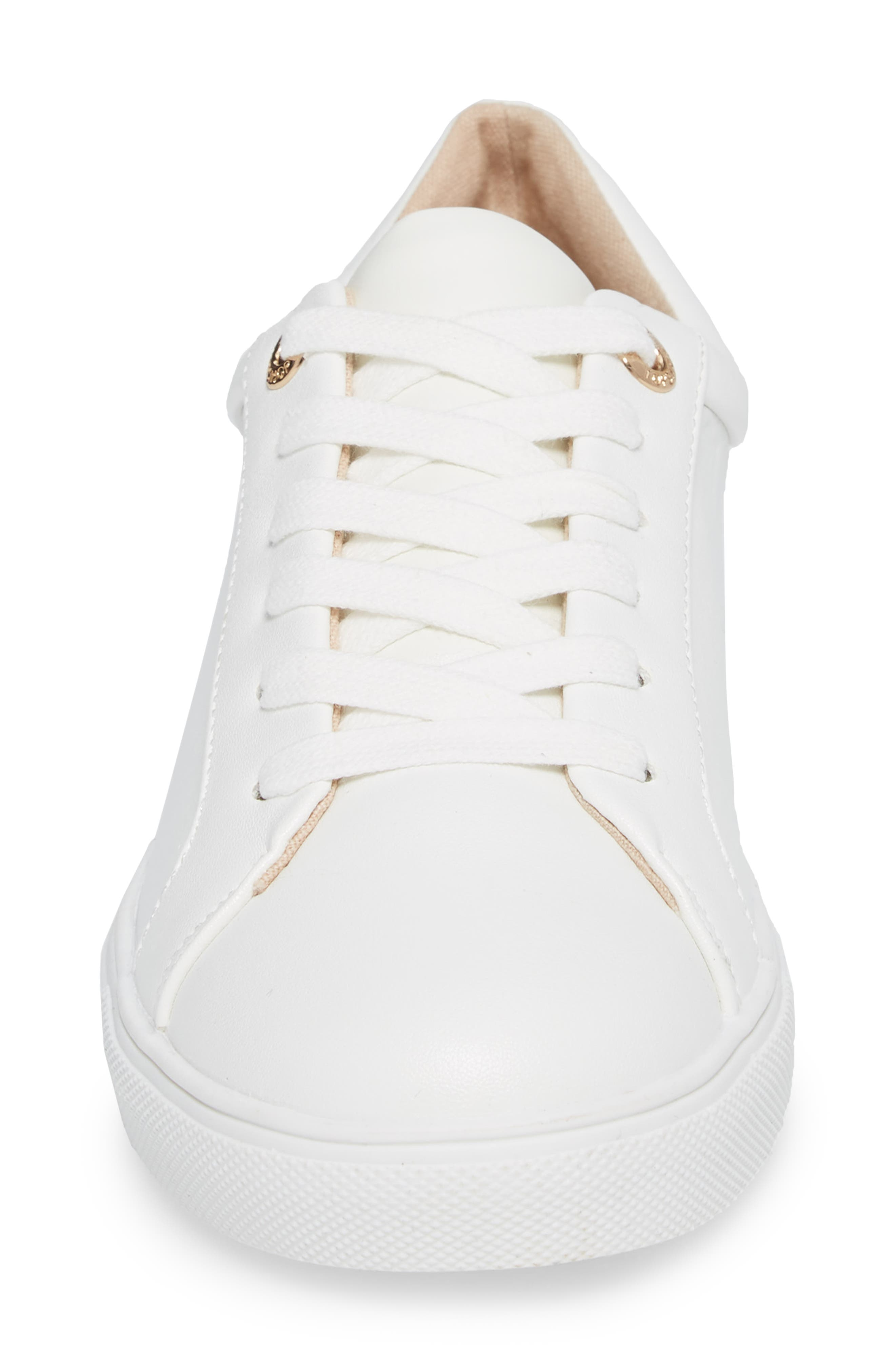 Cookie Low Top Sneaker,                             Alternate thumbnail 4, color,                             White