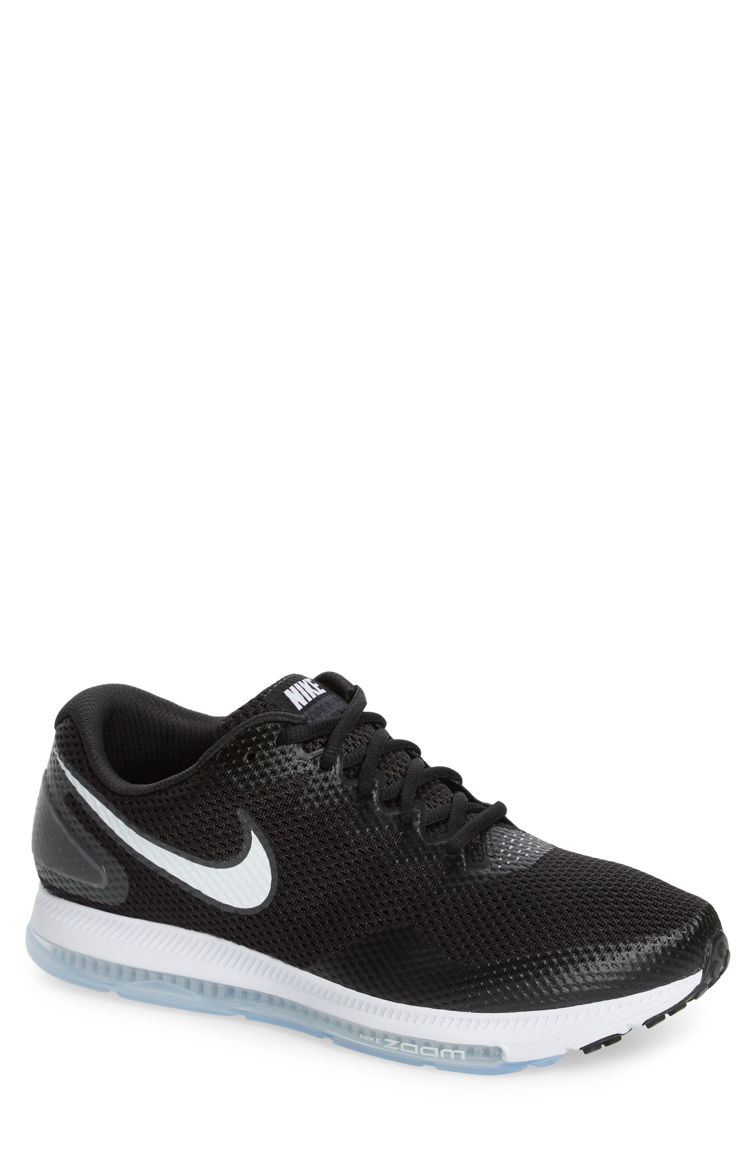 Zoom All Out Low 2 Running Shoe,                         Main,                         color, Black/ White/ Anthracite