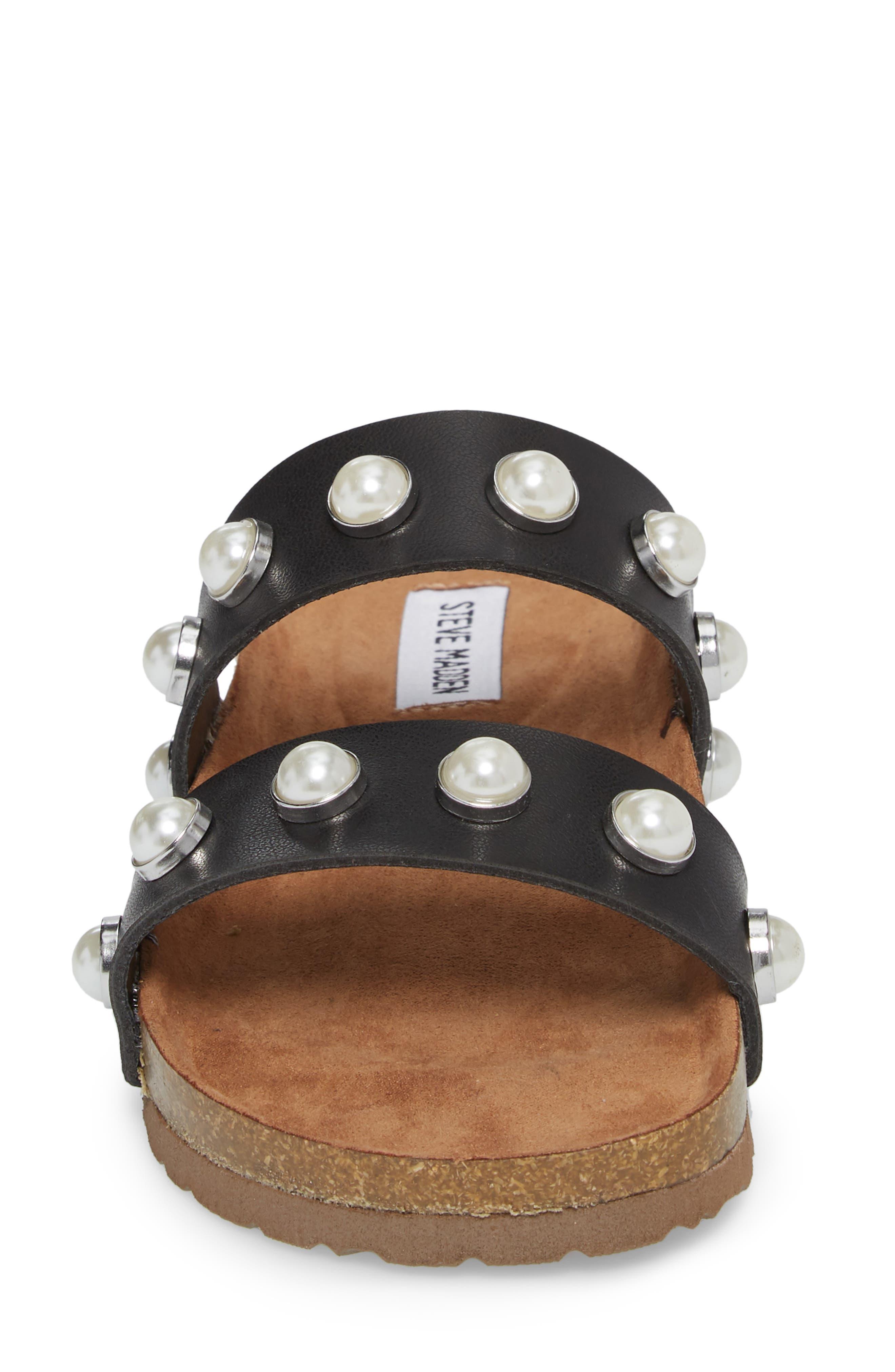 Asset Embellished Slide Sandal,                             Alternate thumbnail 4, color,                             Black