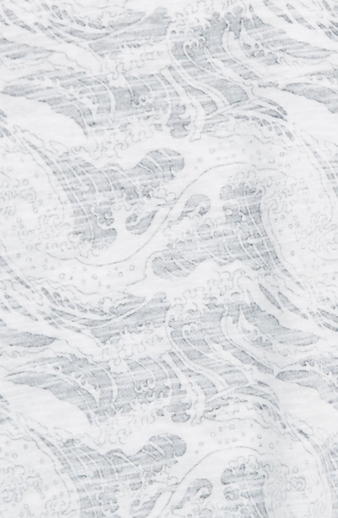 Palm Print T-Shirt,                             Alternate thumbnail 2, color,                             White- Navy Wave