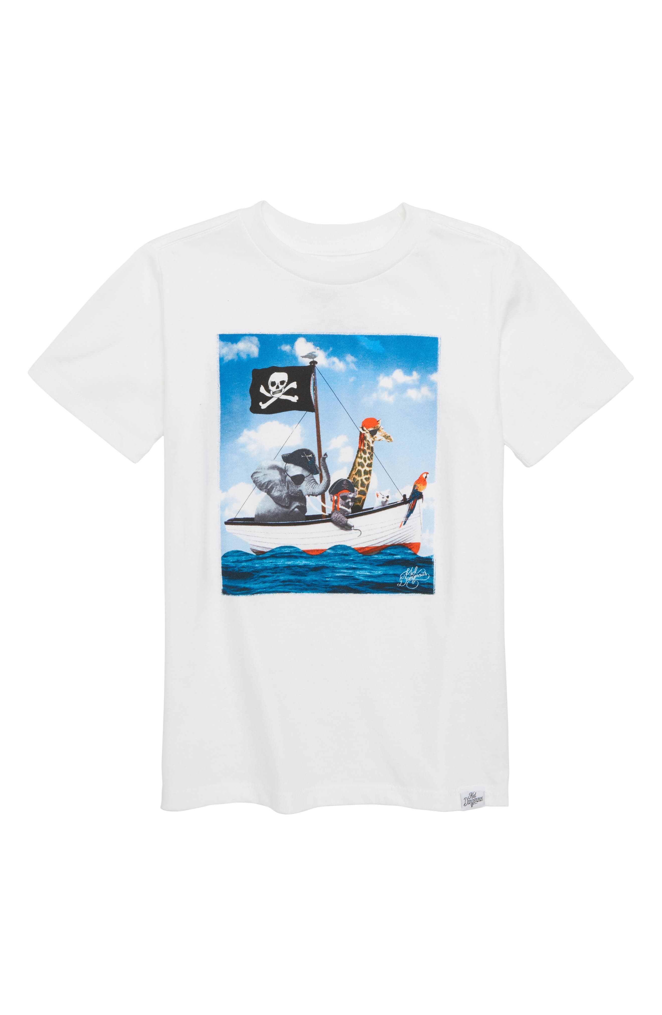 Pirates Graphic T-Shirt,                             Main thumbnail 1, color,                             White