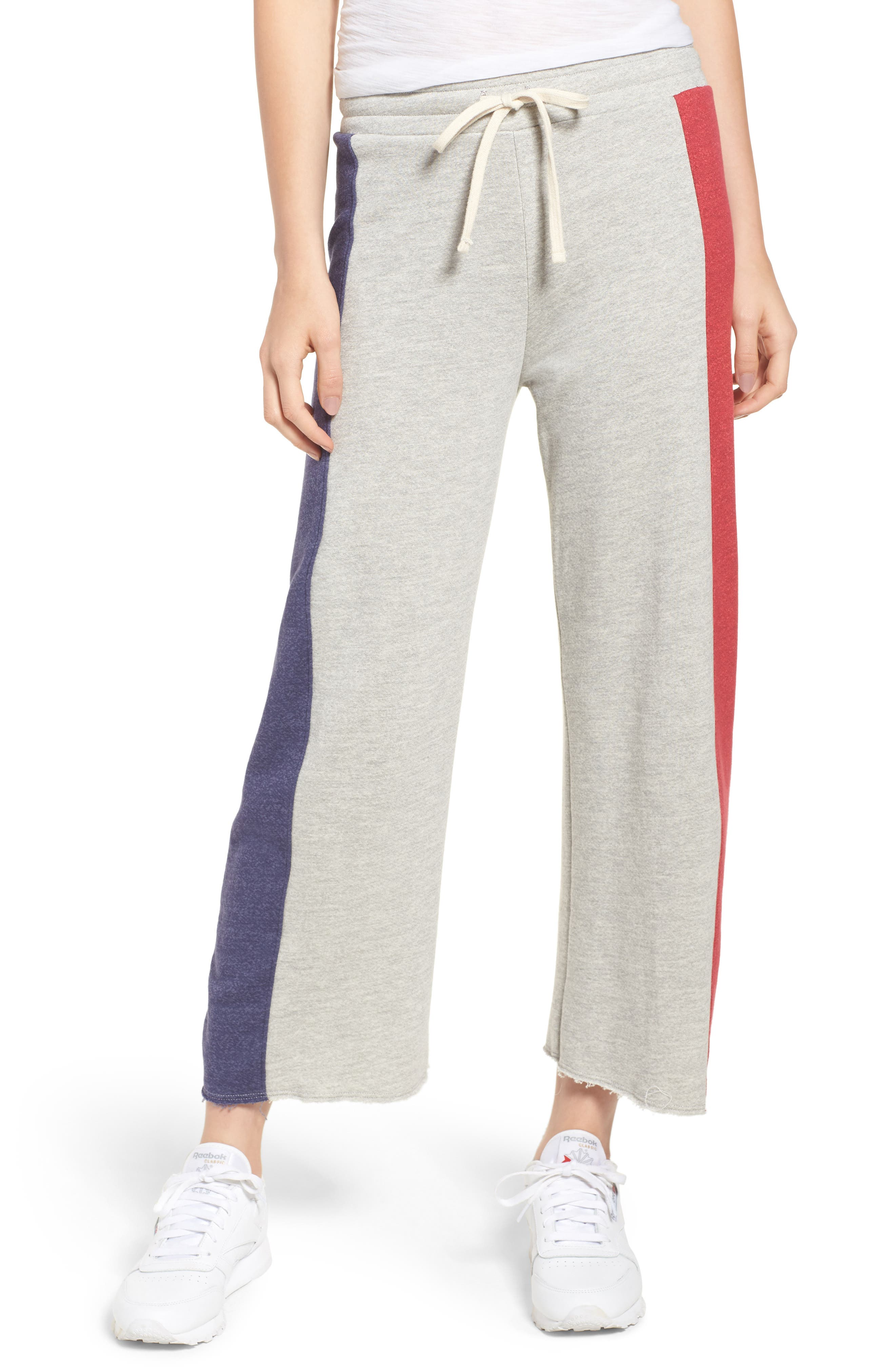 Terry Colorblock Sweatpants,                         Main,                         color, Heather Grey