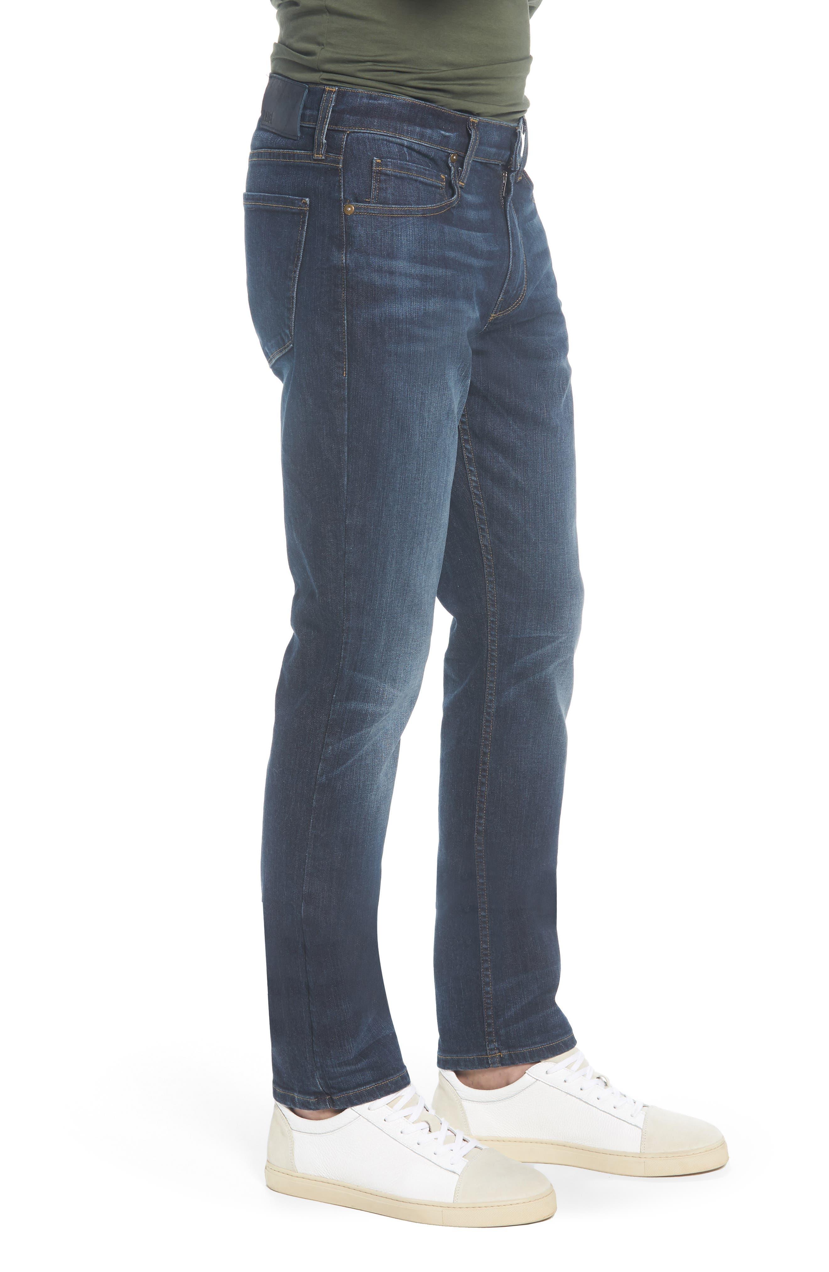 Transcend - Lennox Slim Fit Jeans,                             Alternate thumbnail 3, color,                             Hestan