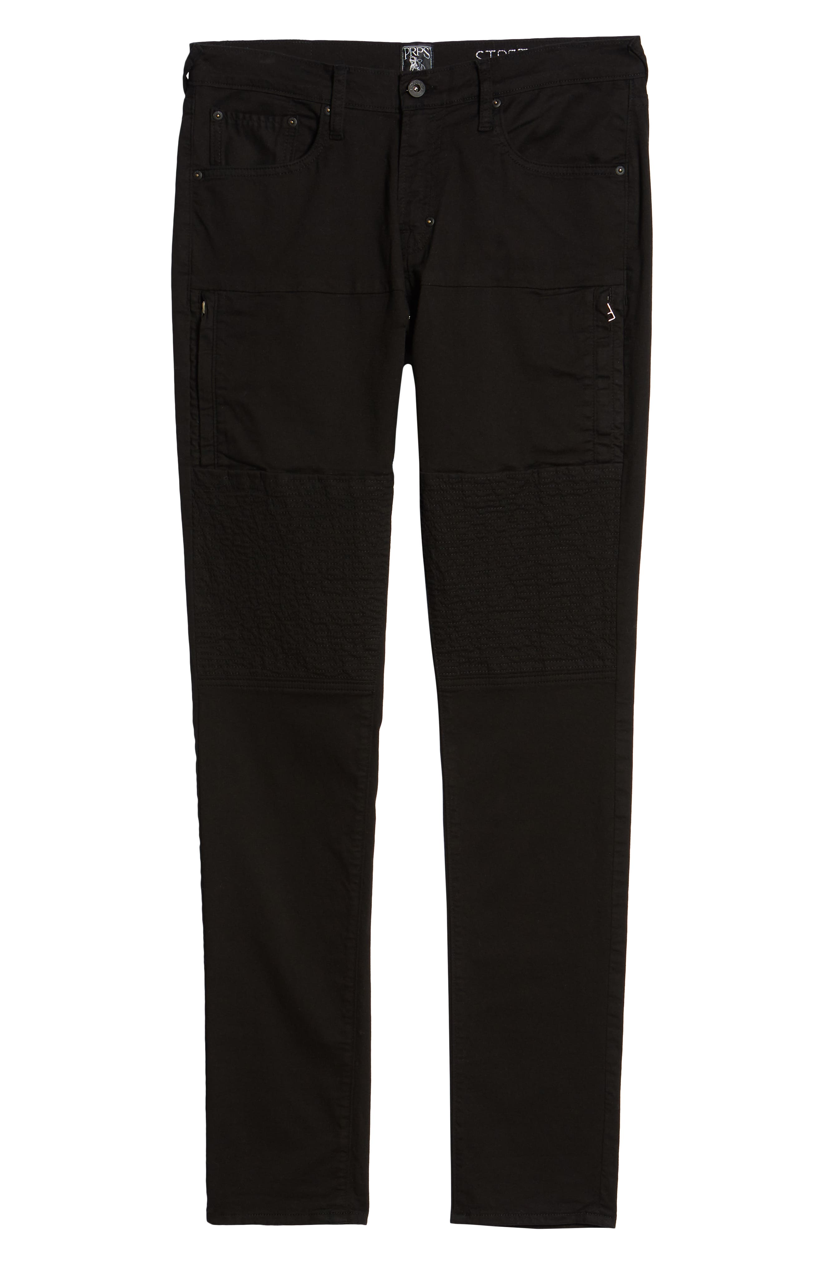Le Sabre Slim Fit Jeans,                             Alternate thumbnail 6, color,                             Black
