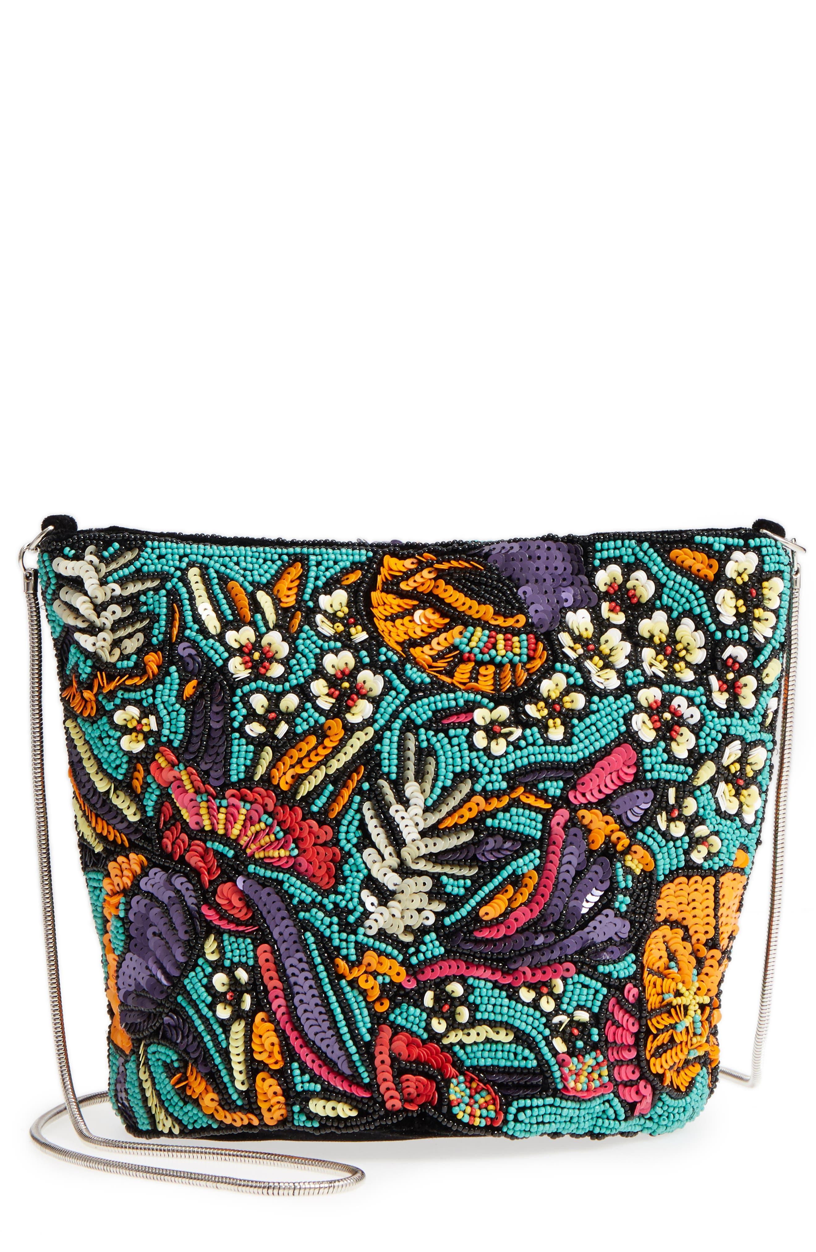 Kipp Beaded Shoulder Bag,                         Main,                         color, Black Multi
