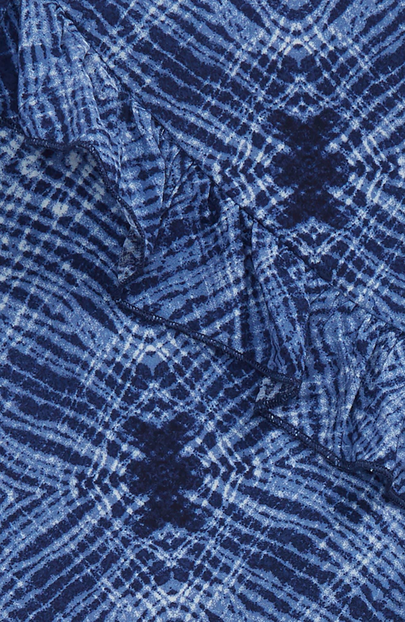 Ruffle Top & Leggings Set,                             Alternate thumbnail 2, color,                             Navy