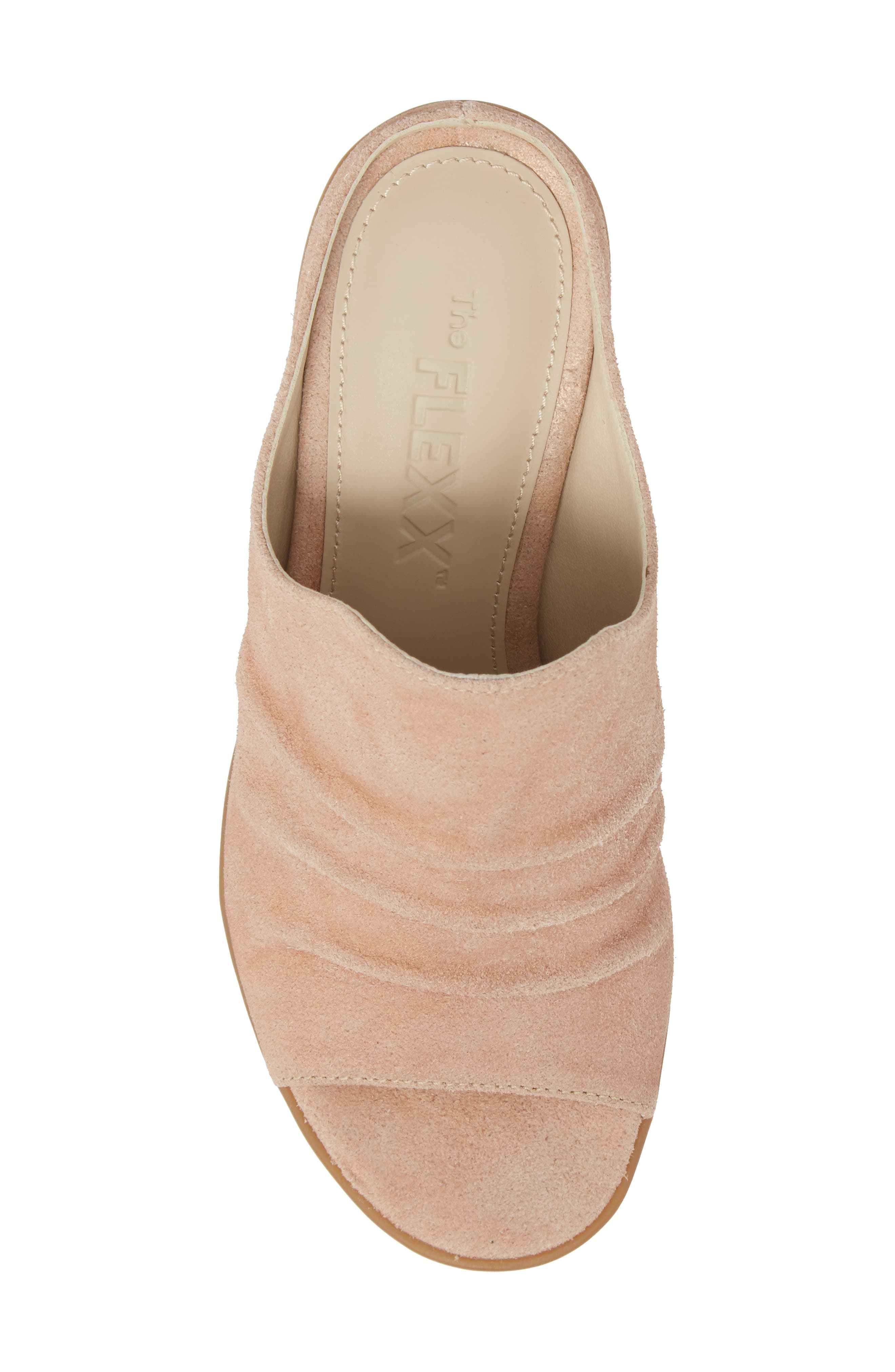 Aim to Pleat Mule,                             Alternate thumbnail 5, color,                             Rose Gold Leather