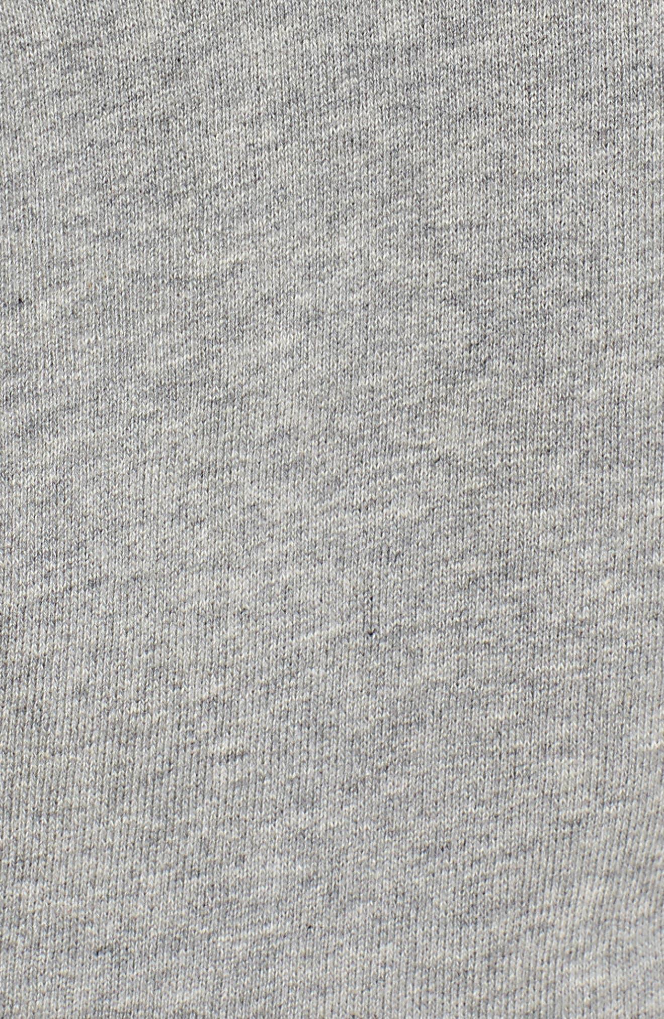 smocked hoodie sweatshirt,                             Alternate thumbnail 5, color,                             Flint Heather