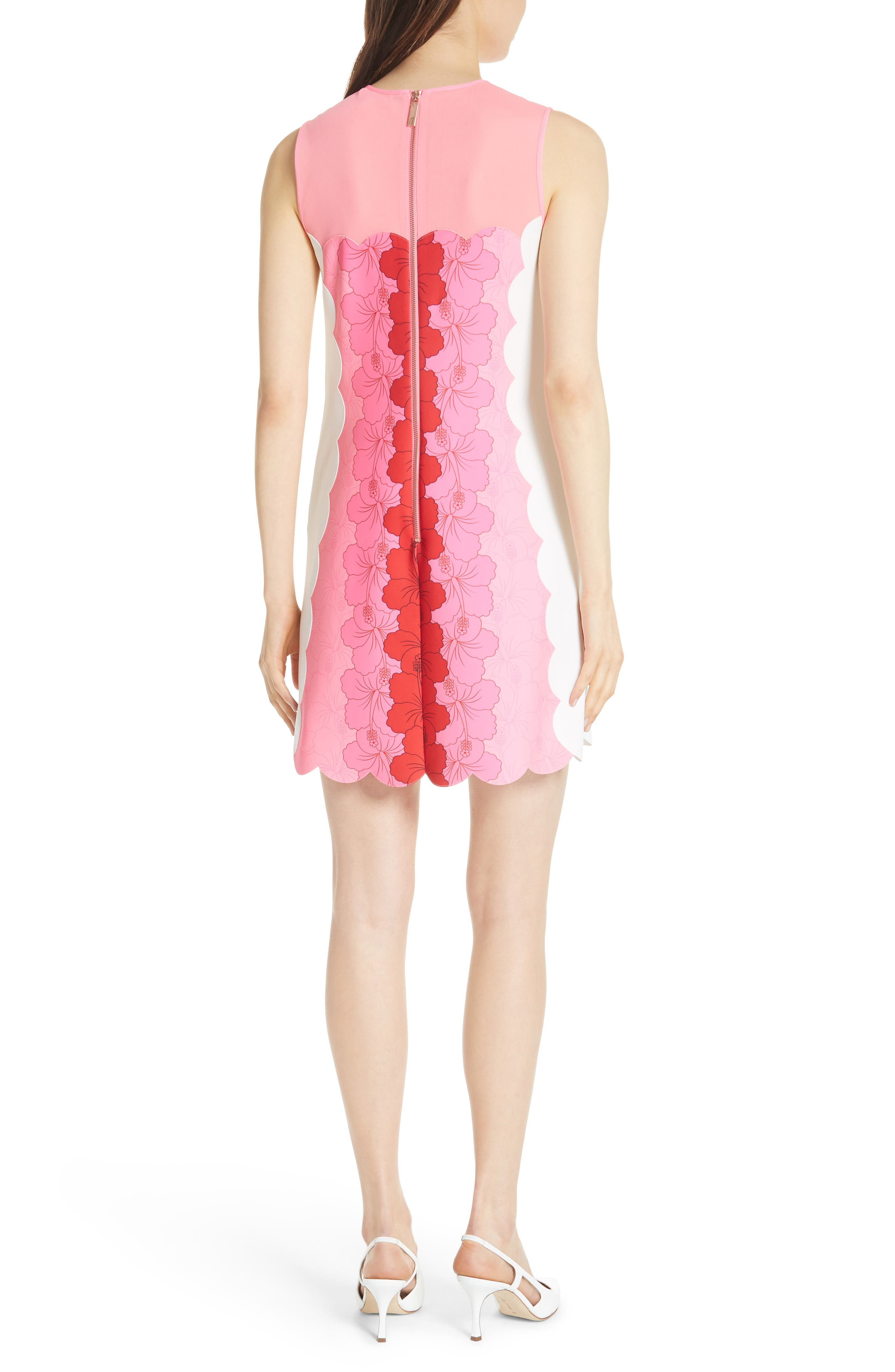 Angge Happiness Dress,                             Alternate thumbnail 2, color,                             Neon Pink