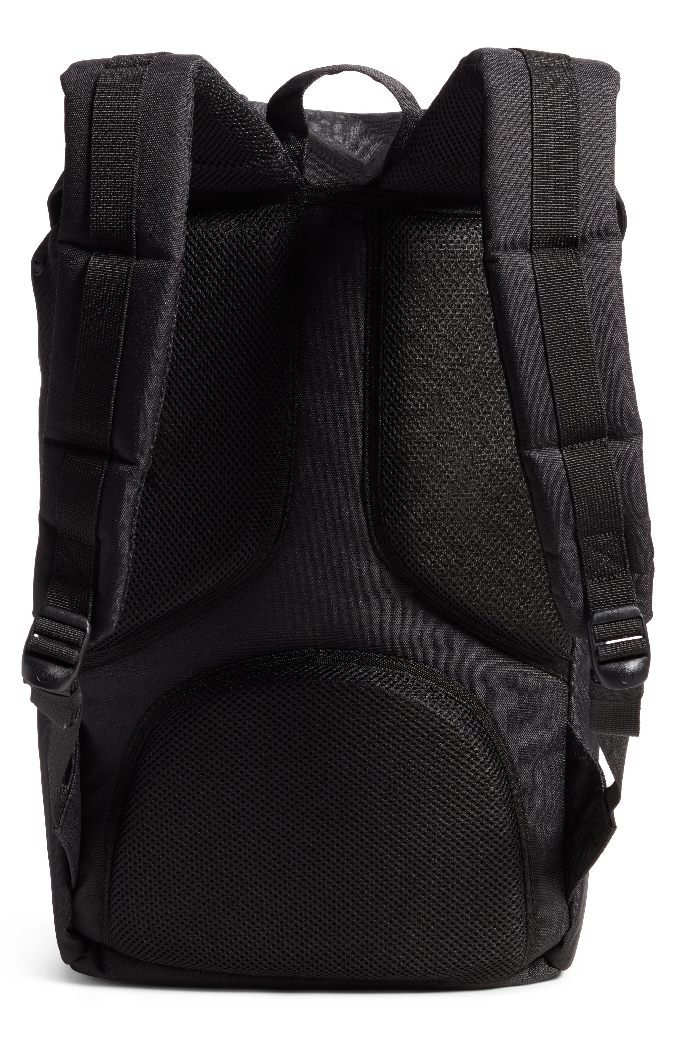 Little America - Chambray Backpack,                             Alternate thumbnail 3, color,                             Black/ Dark Chambray