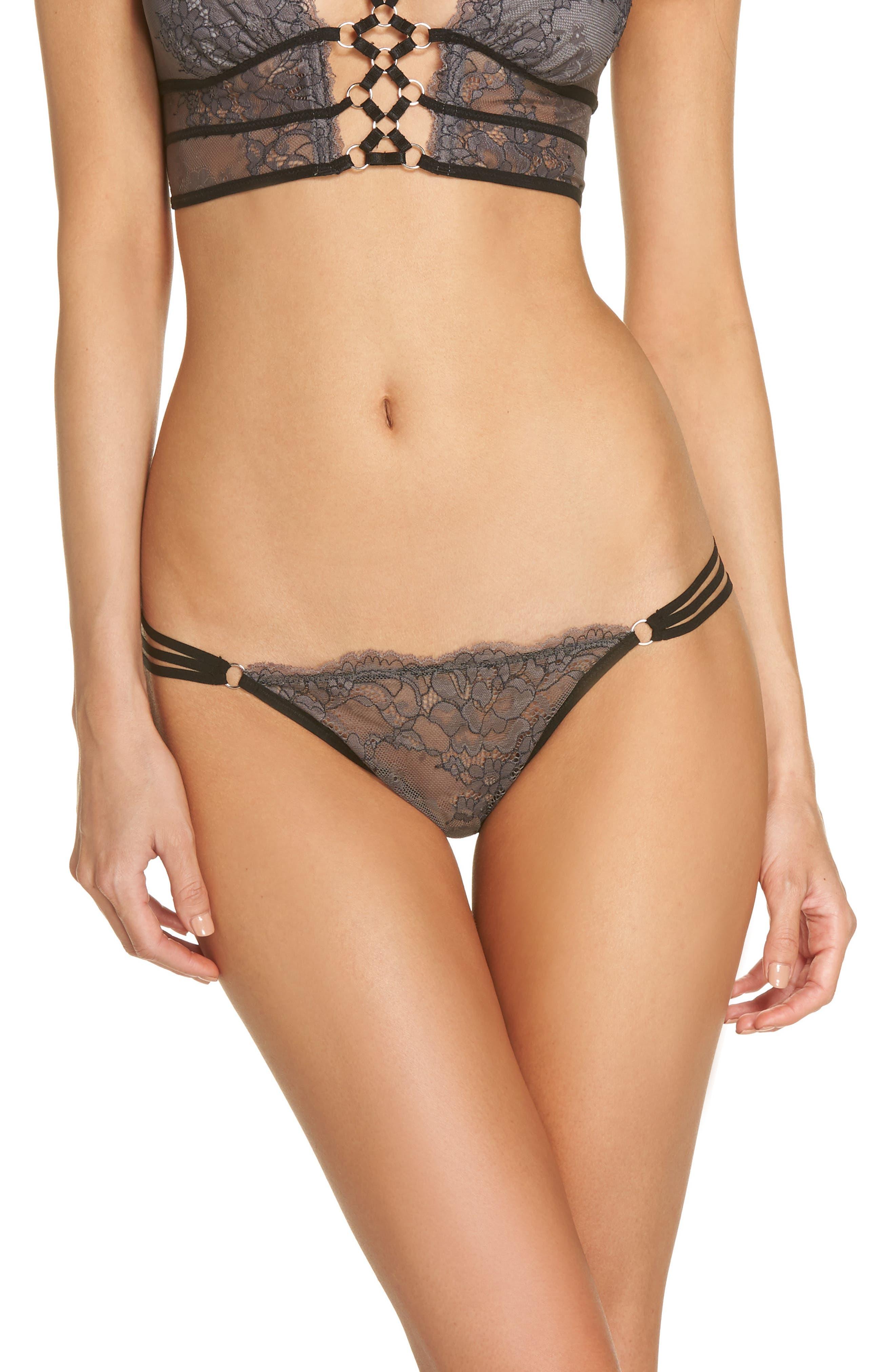 Thistle & Spire Constellation Lace Bikini,                             Main thumbnail 1, color,                             Steel
