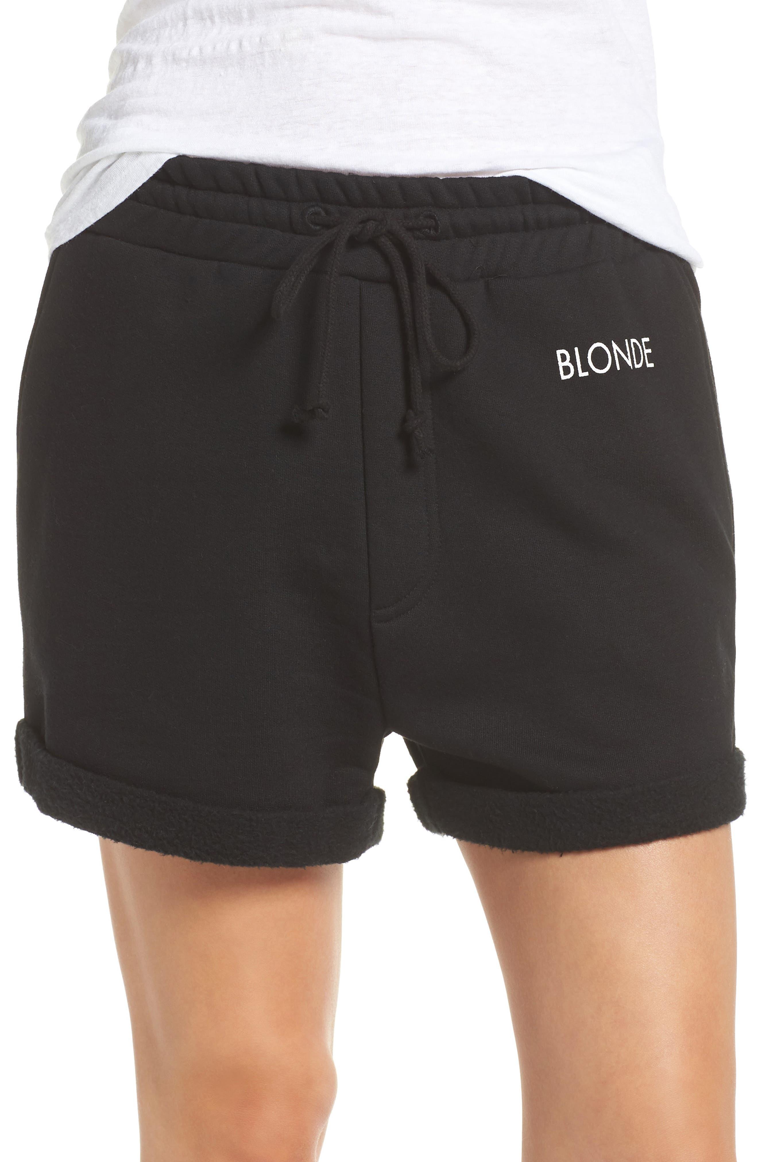 Blonde Lounge Shorts,                         Main,                         color, Black