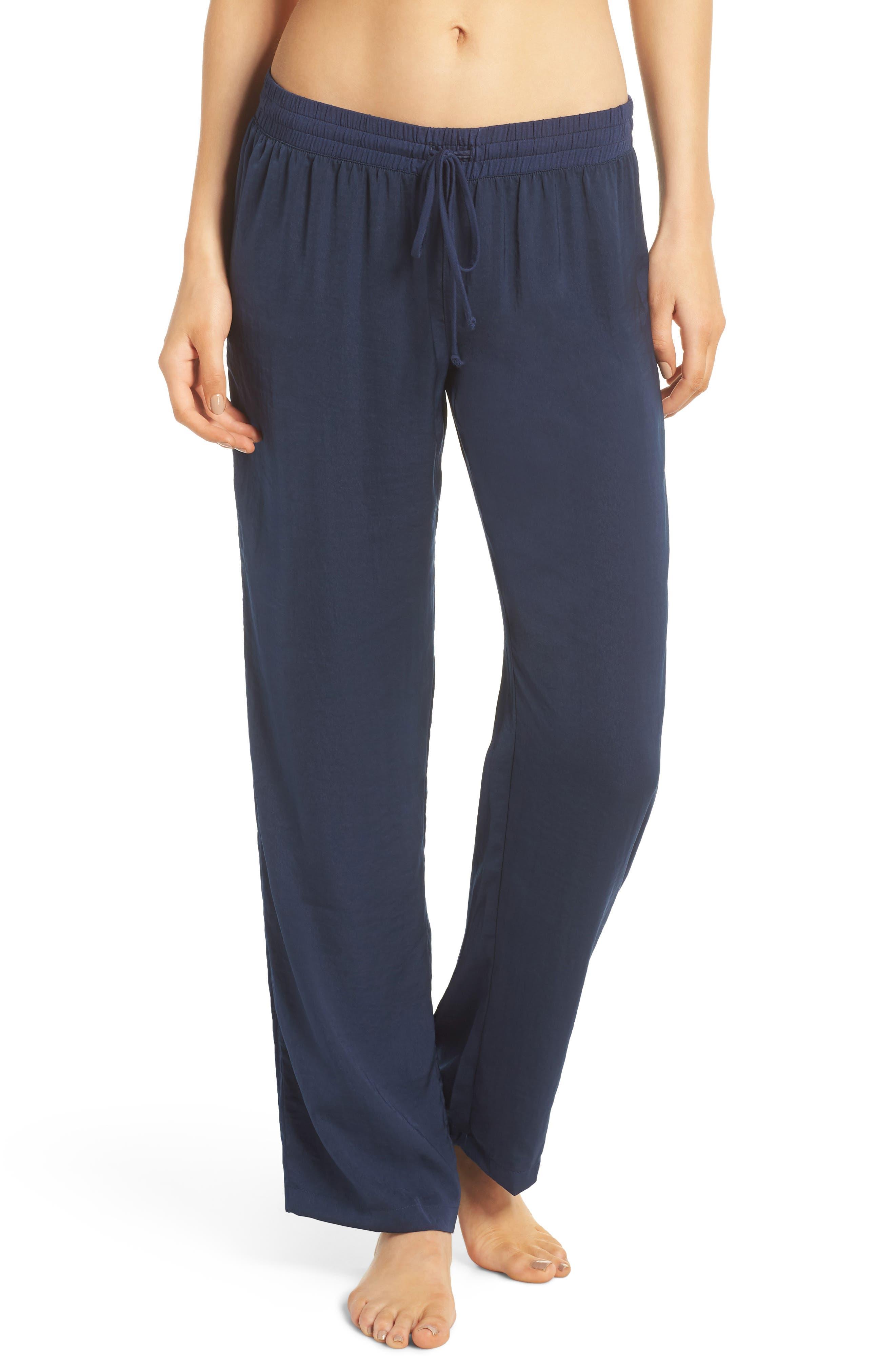 Pajama Pants,                         Main,                         color, Navy