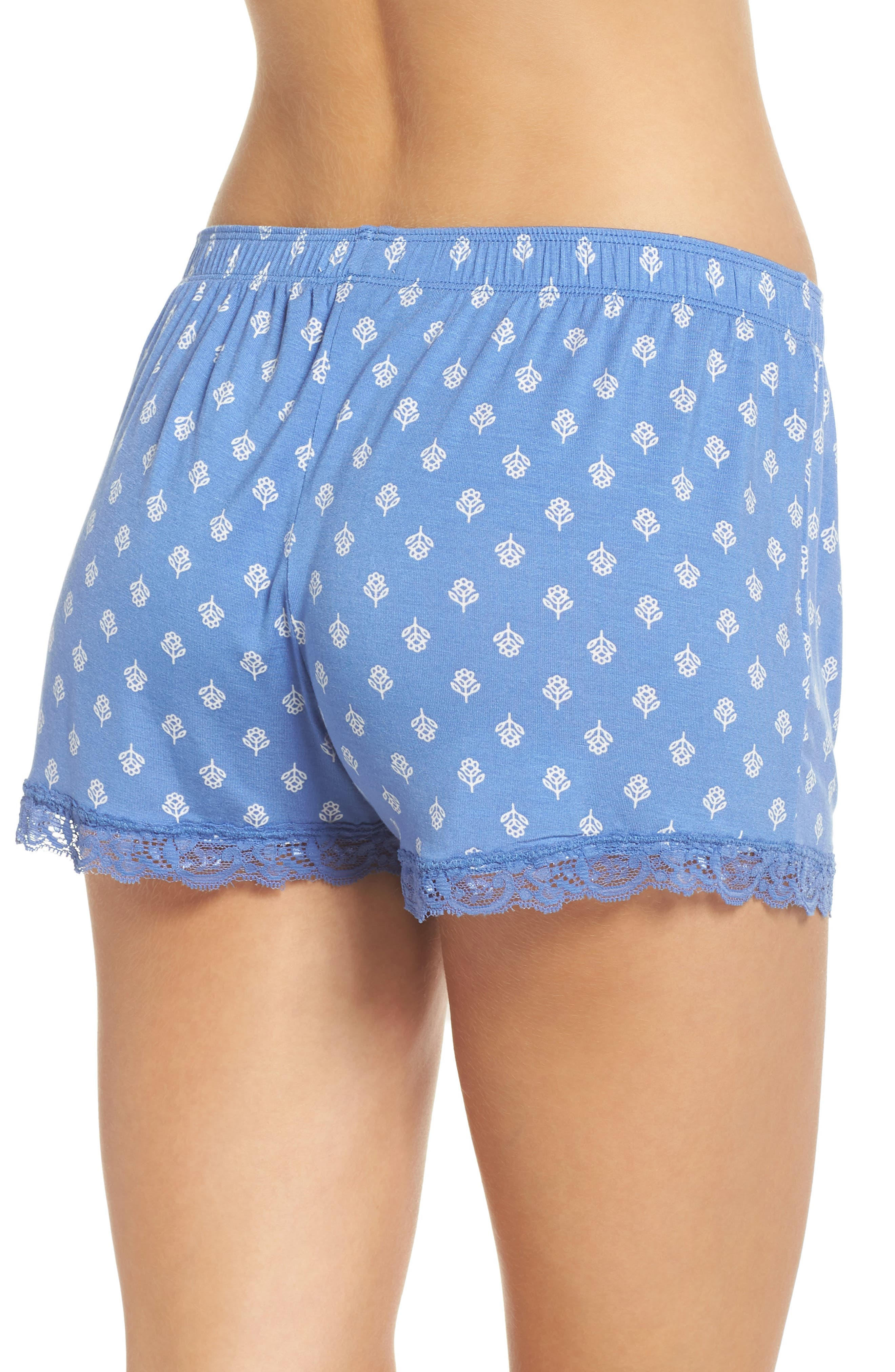 Pajama Shorts,                             Alternate thumbnail 2, color,                             Blue