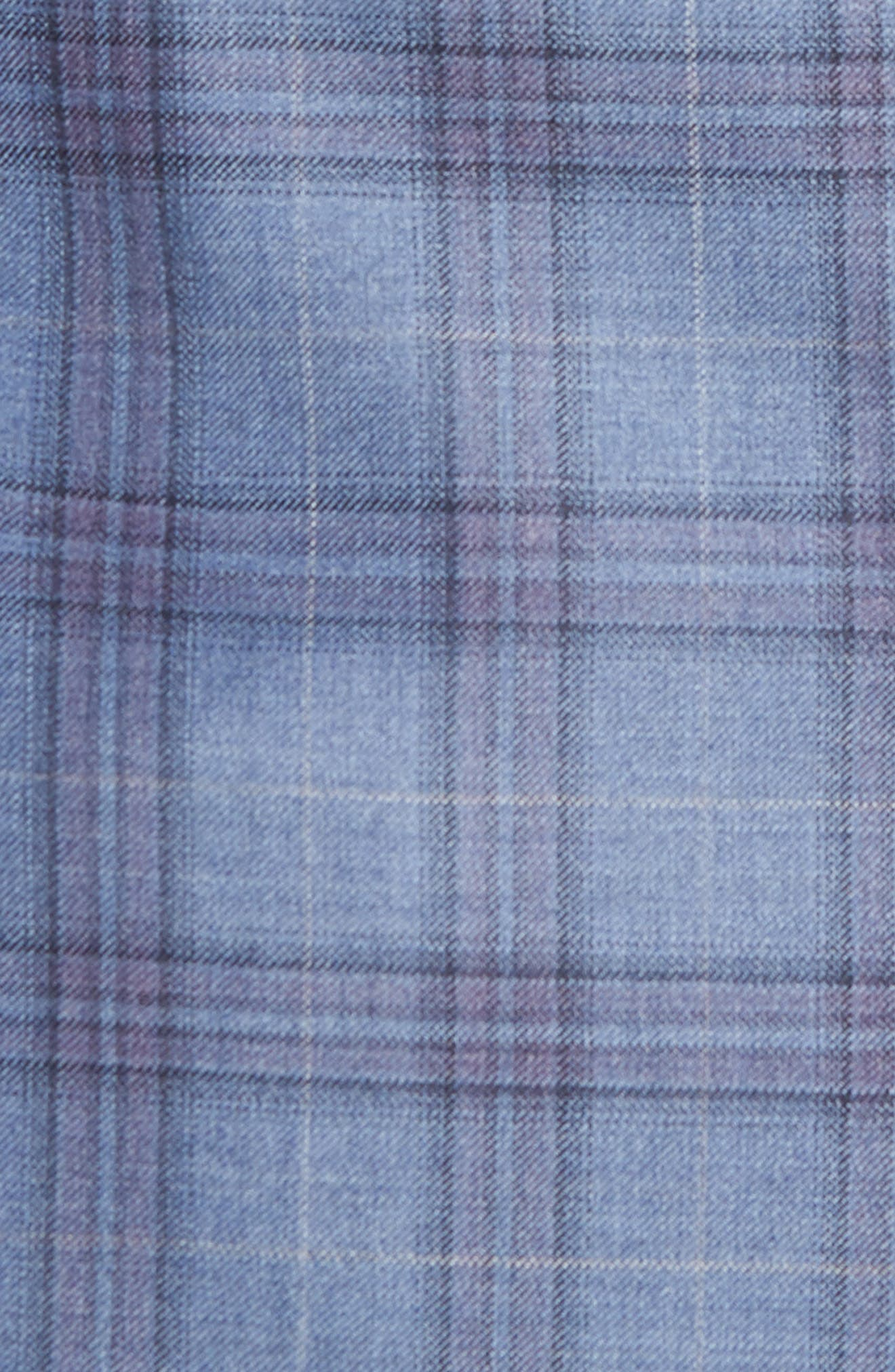 Jay Trim Fit Plaid Wool Sport Coat,                             Alternate thumbnail 5, color,                             Blue