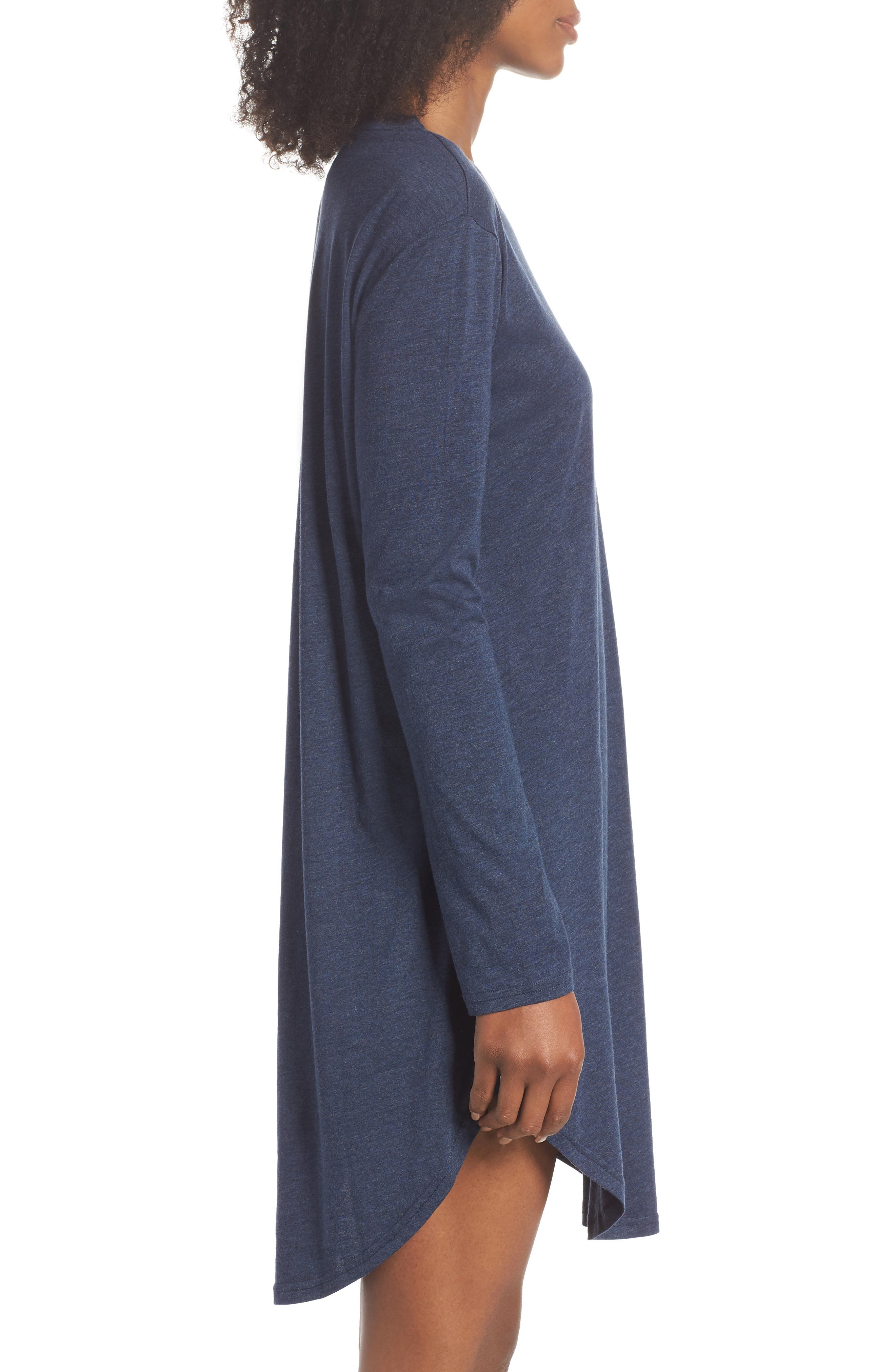 Midnight Marl Nightgown,                             Alternate thumbnail 3, color,                             Midnight Marle