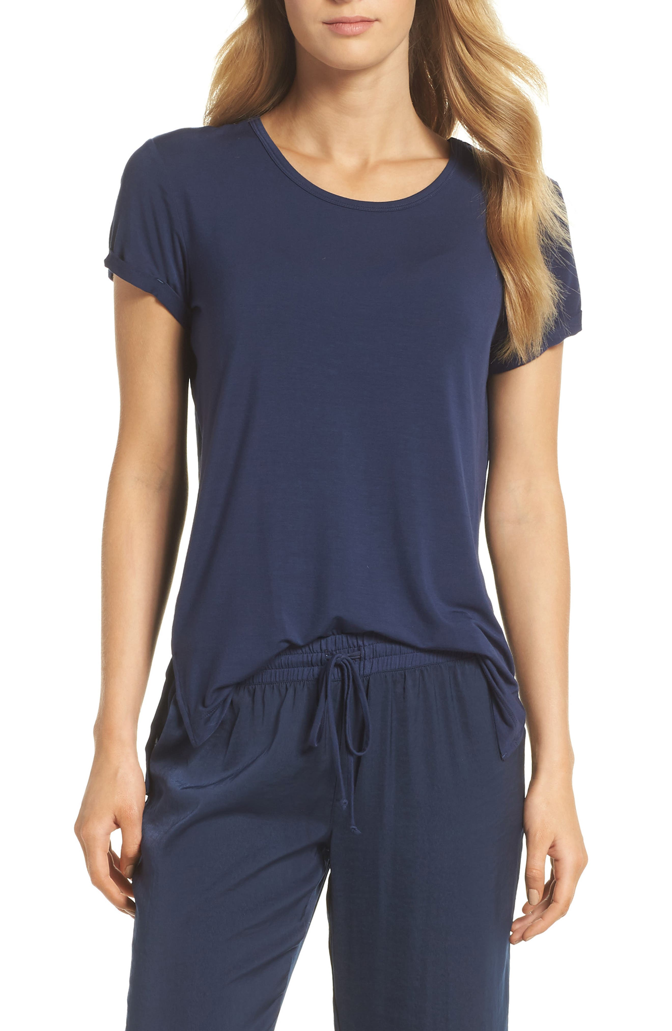 Pajama Tee,                             Main thumbnail 1, color,                             Navy