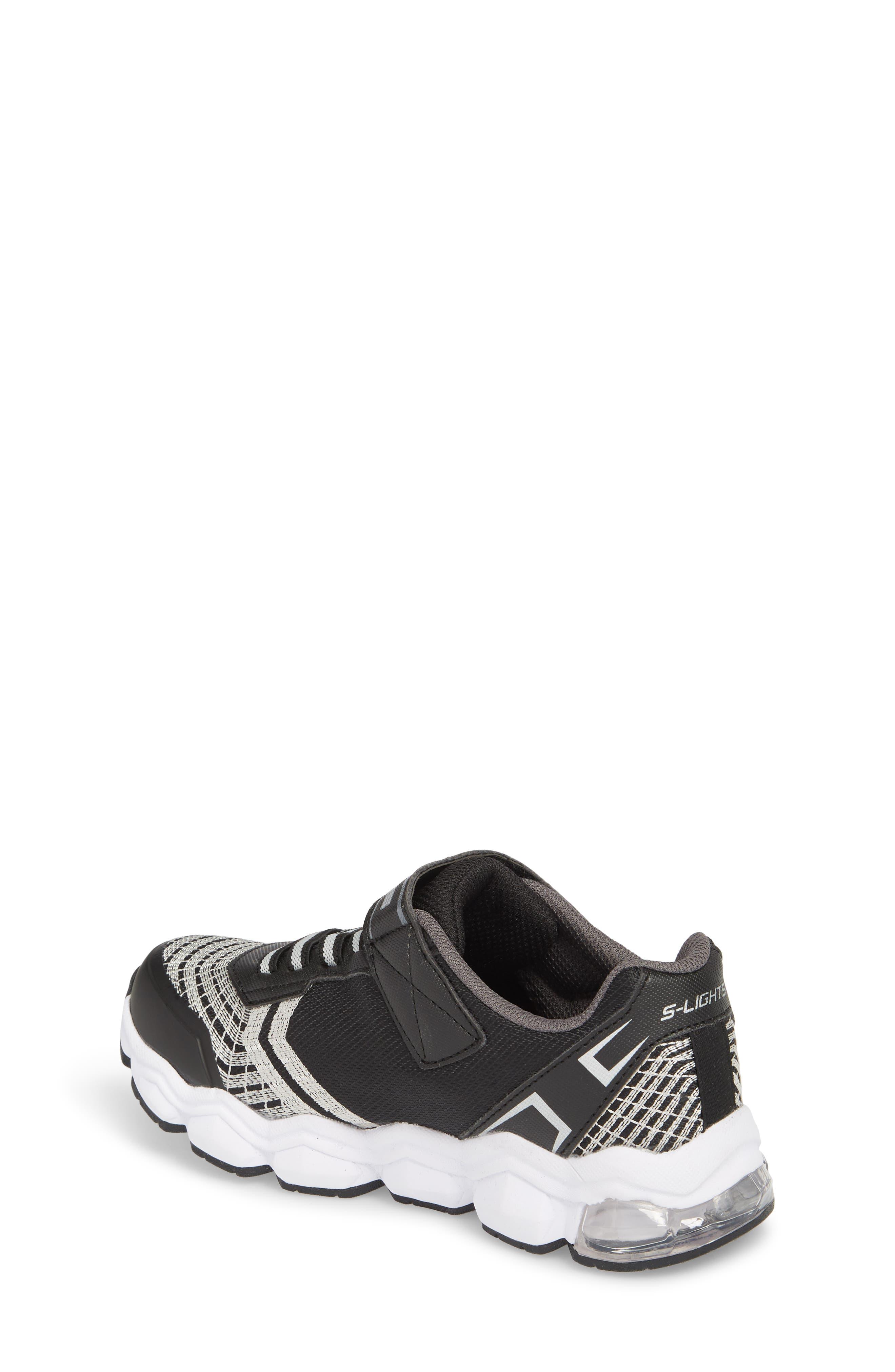 Energy Lights Sneaker,                             Alternate thumbnail 2, color,                             Black/ Silver
