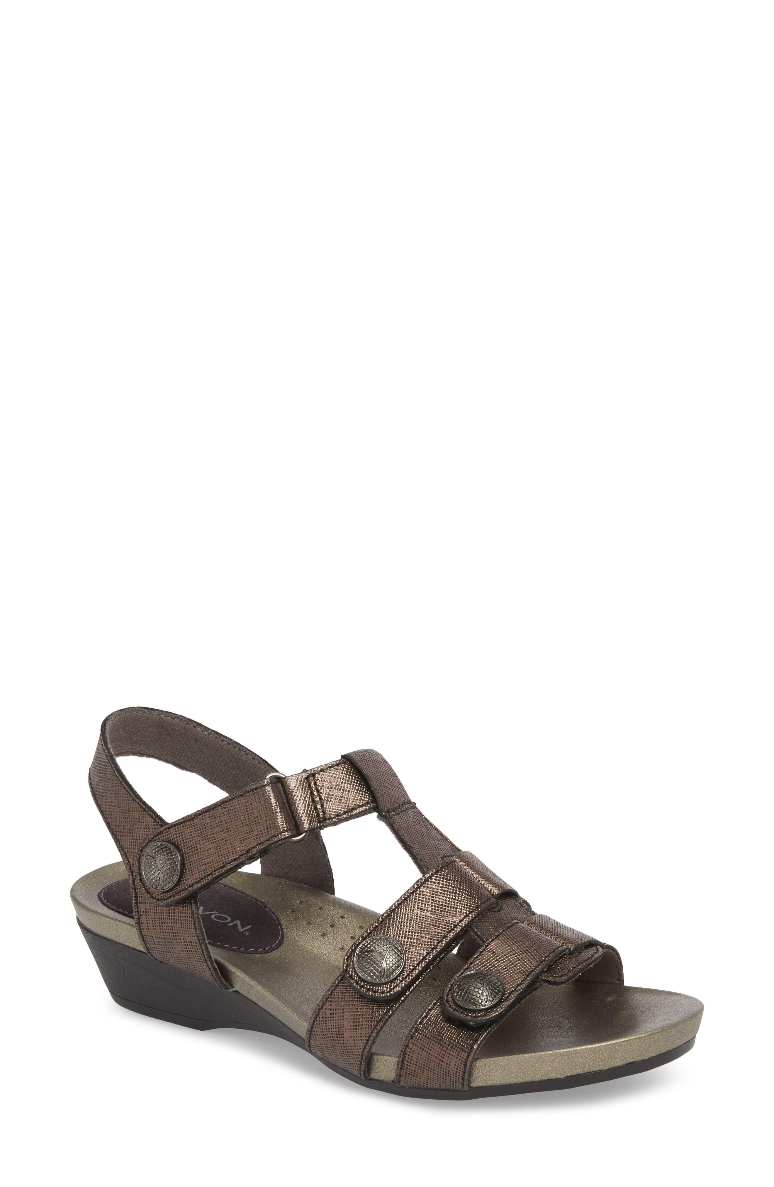 Standon Sandal,                         Main,                         color, Black Leather