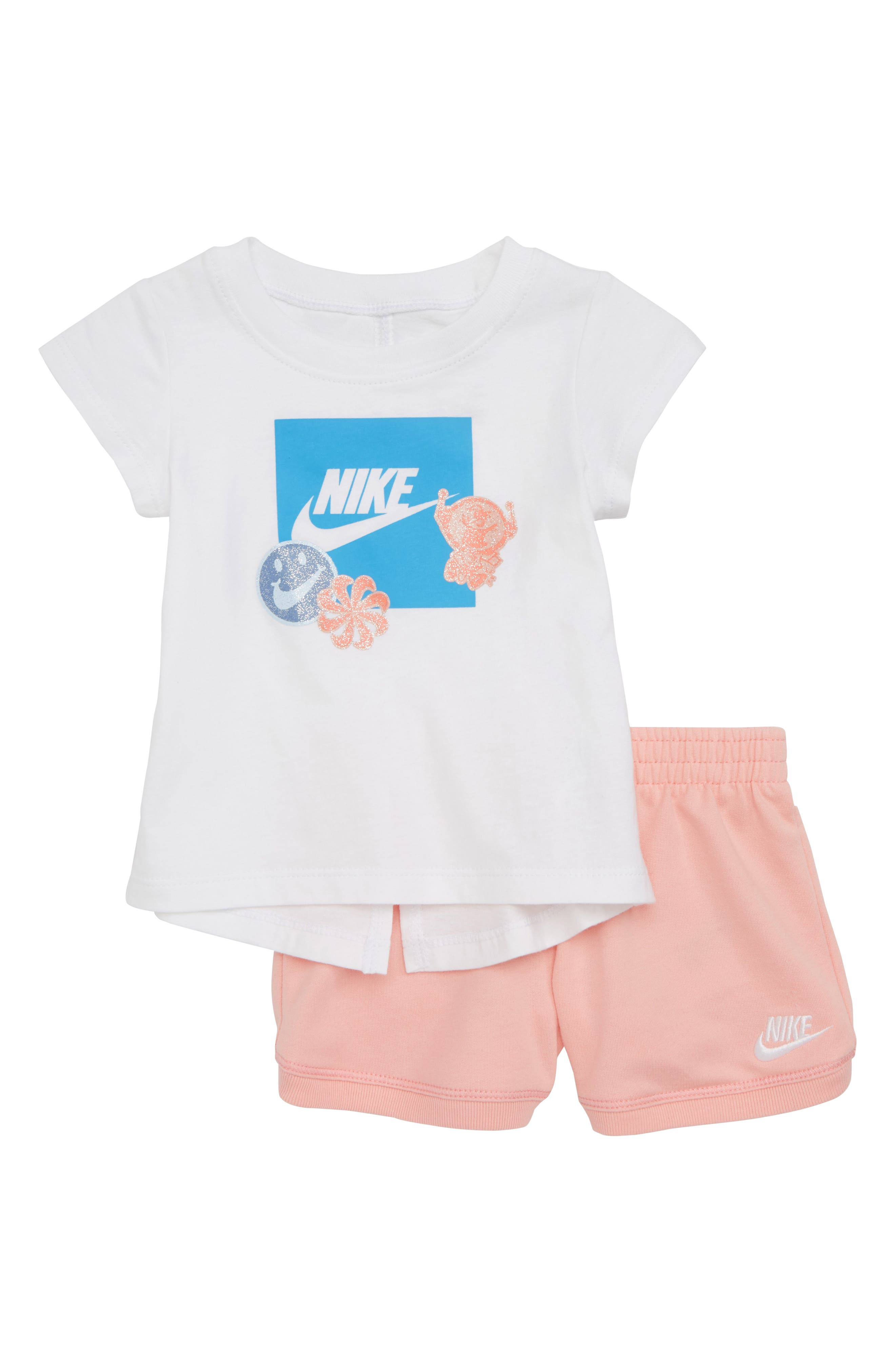 DNA Tee & Shorts Set,                         Main,                         color, Bleached Coral