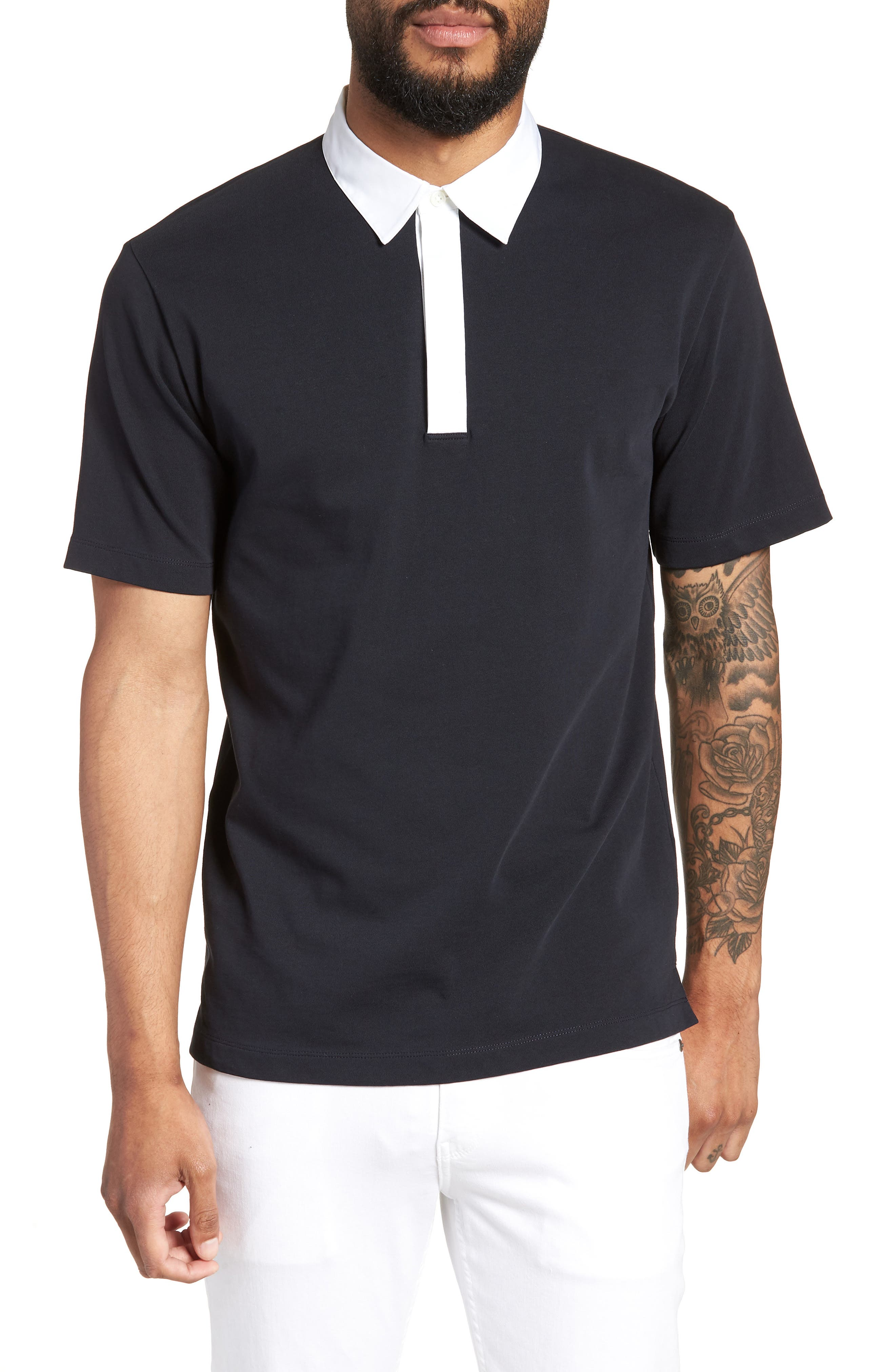 Rugby Rope Regular Fit Polo,                         Main,                         color, Eclipse