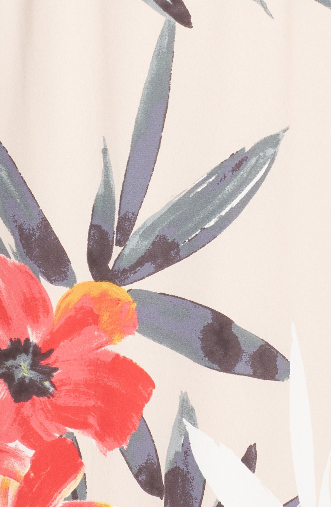 Tropical Breeze Floral Maxi Dress,                             Alternate thumbnail 6, color,                             Geranium Multi