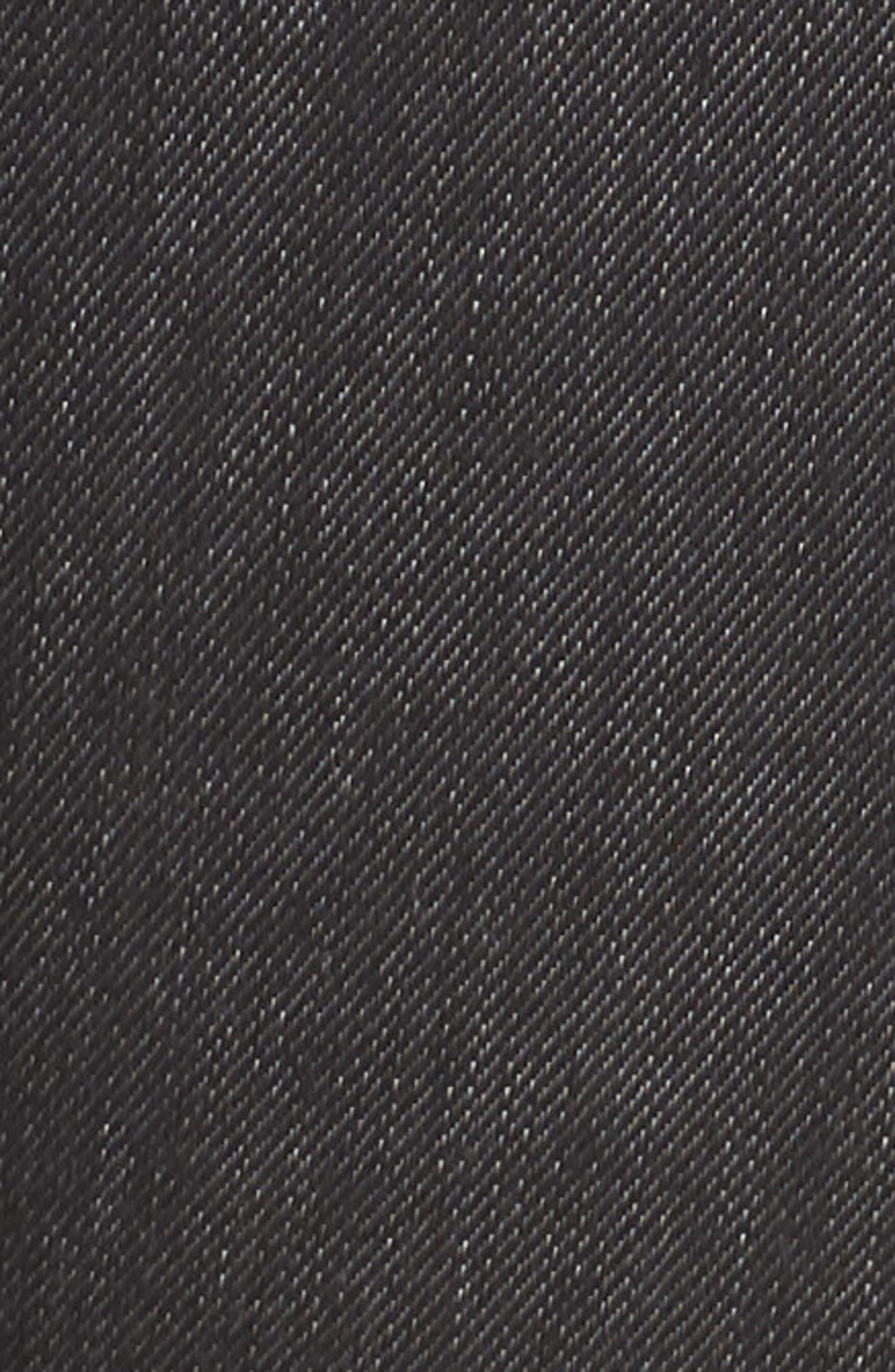 Grommet Slit Hem Ankle Skinny Jeans,                             Alternate thumbnail 6, color,                             Black