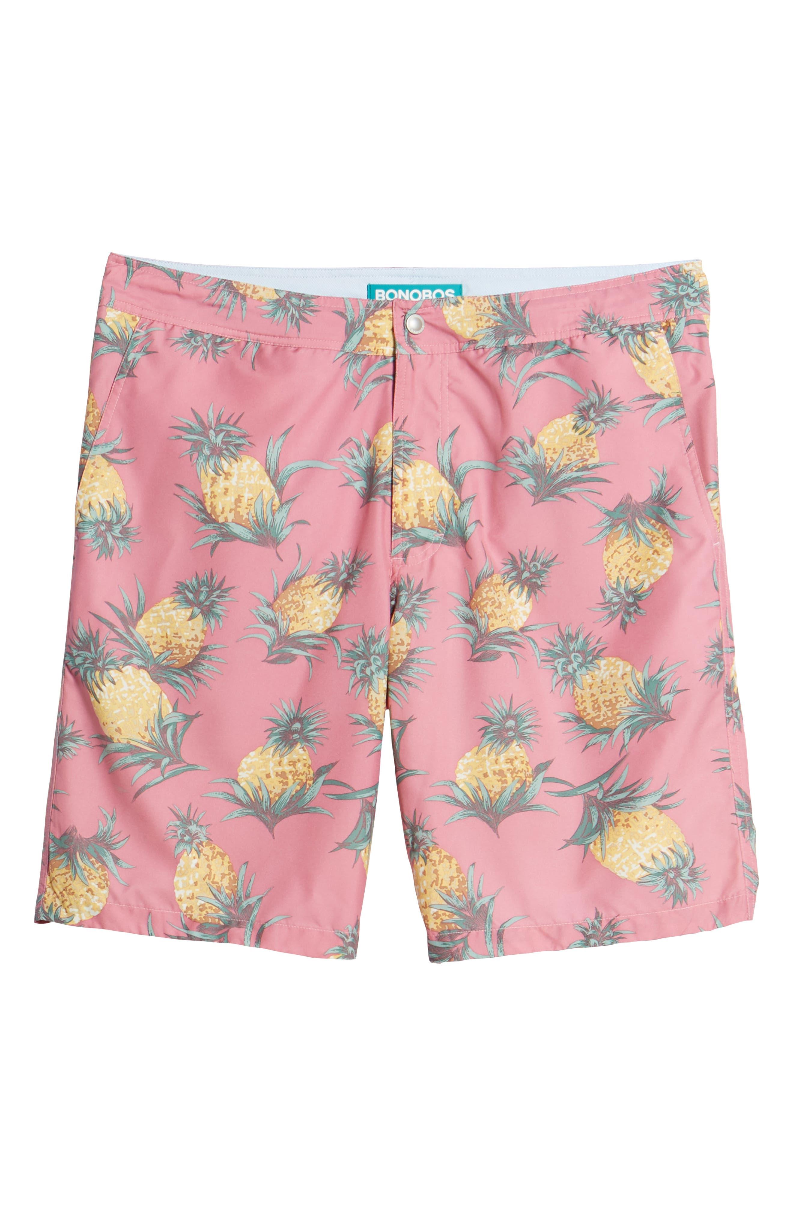 Banzai 9-Inch Swim Trunks,                             Alternate thumbnail 6, color,                             Pineapples Print