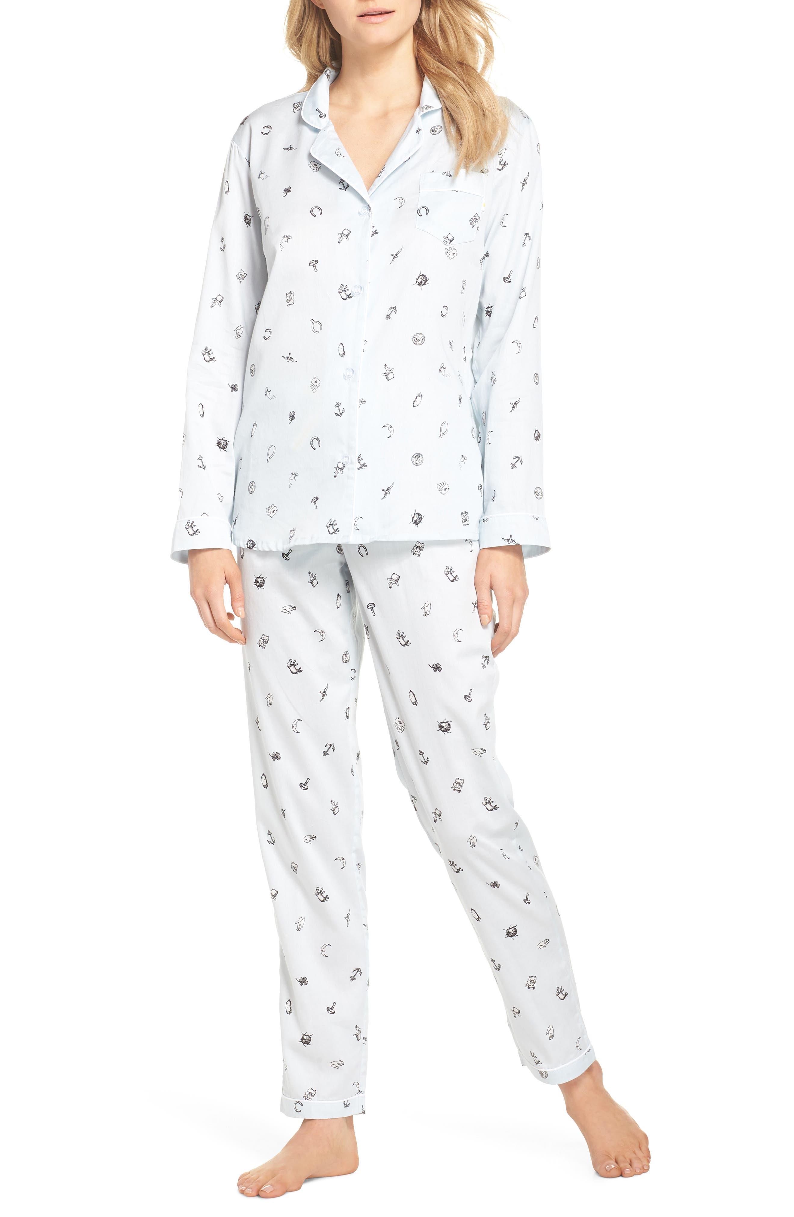 Charms Pajamas,                             Main thumbnail 1, color,                             Charms Lt Blue