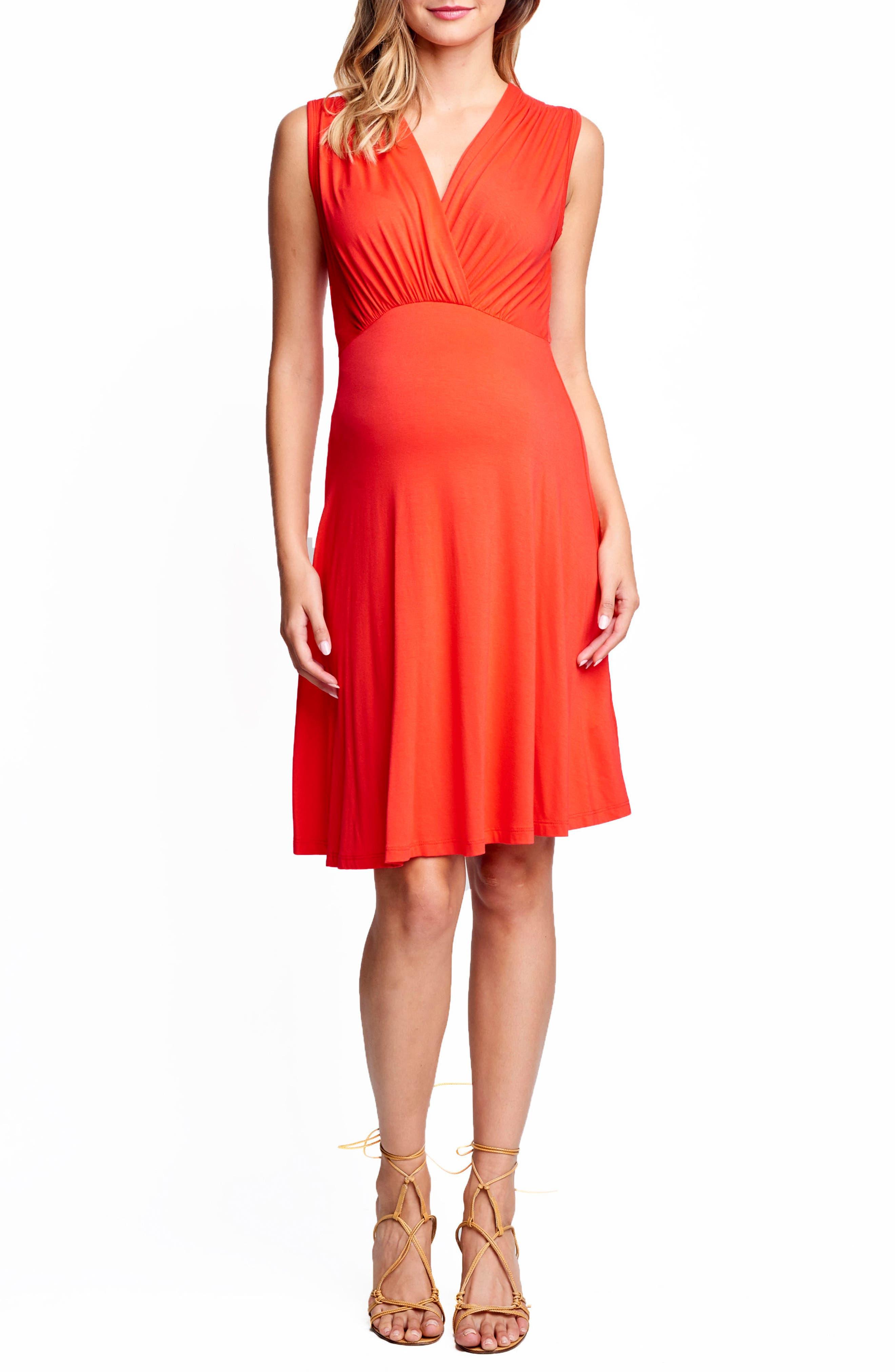 Maternal America Sleeveless Empire Waist Maternity Dress