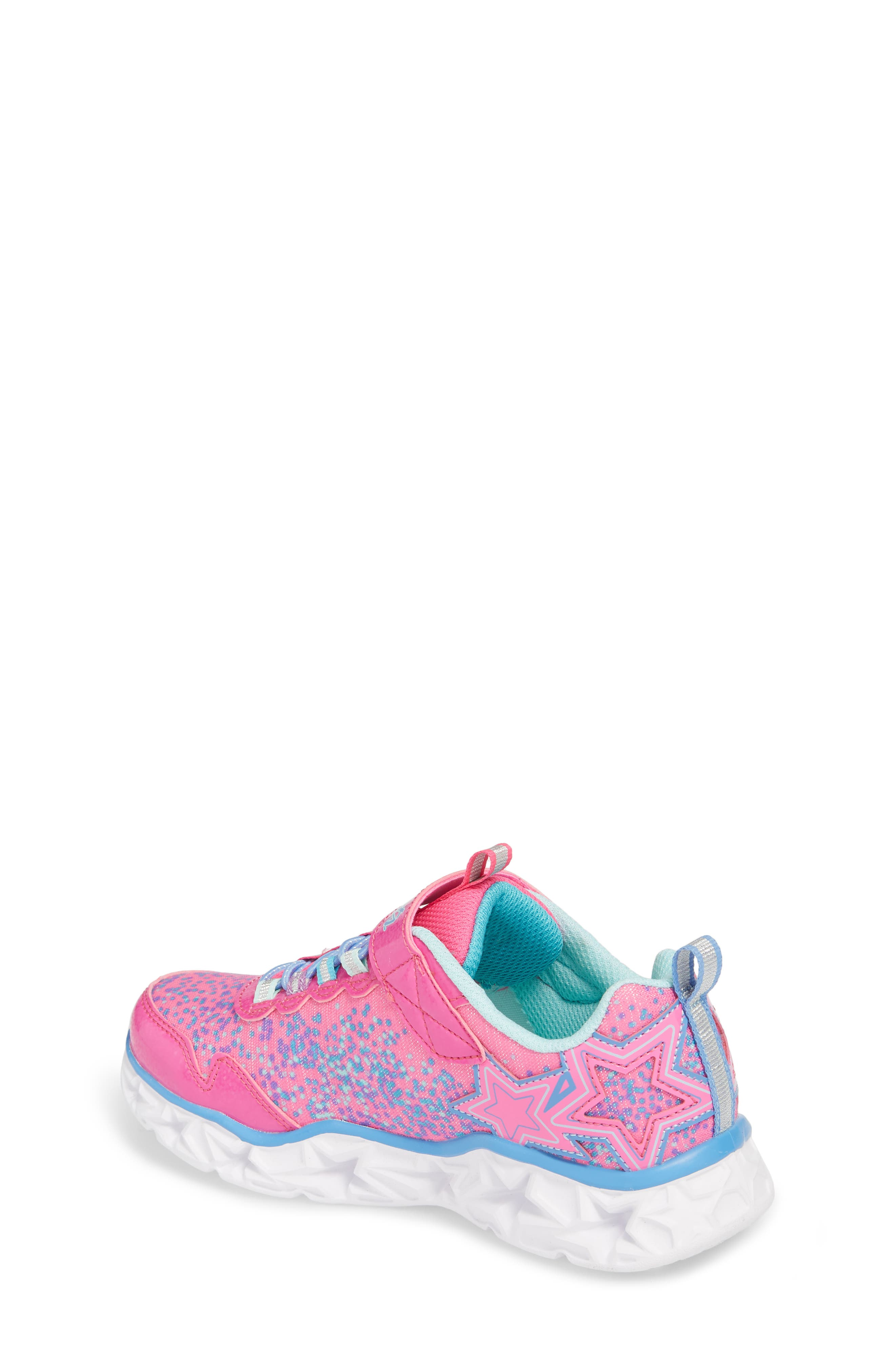 Galaxy Lights Sneakers,                             Alternate thumbnail 2, color,                             Neon Pink/ Multi
