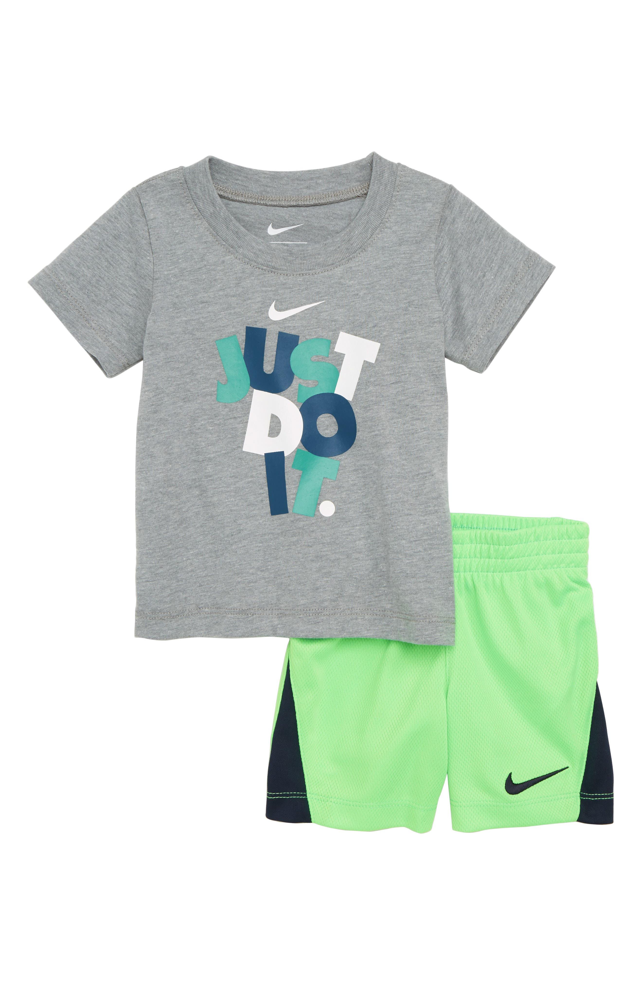 Nike Just Do It T-Shirt & Mesh Shorts Set (Baby)