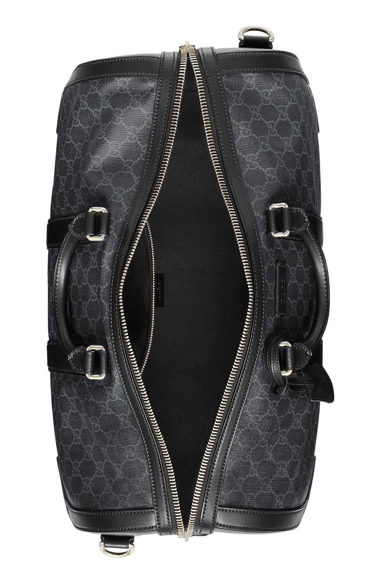 GG Supreme Duffel Bag,                             Alternate thumbnail 4, color,                             Black