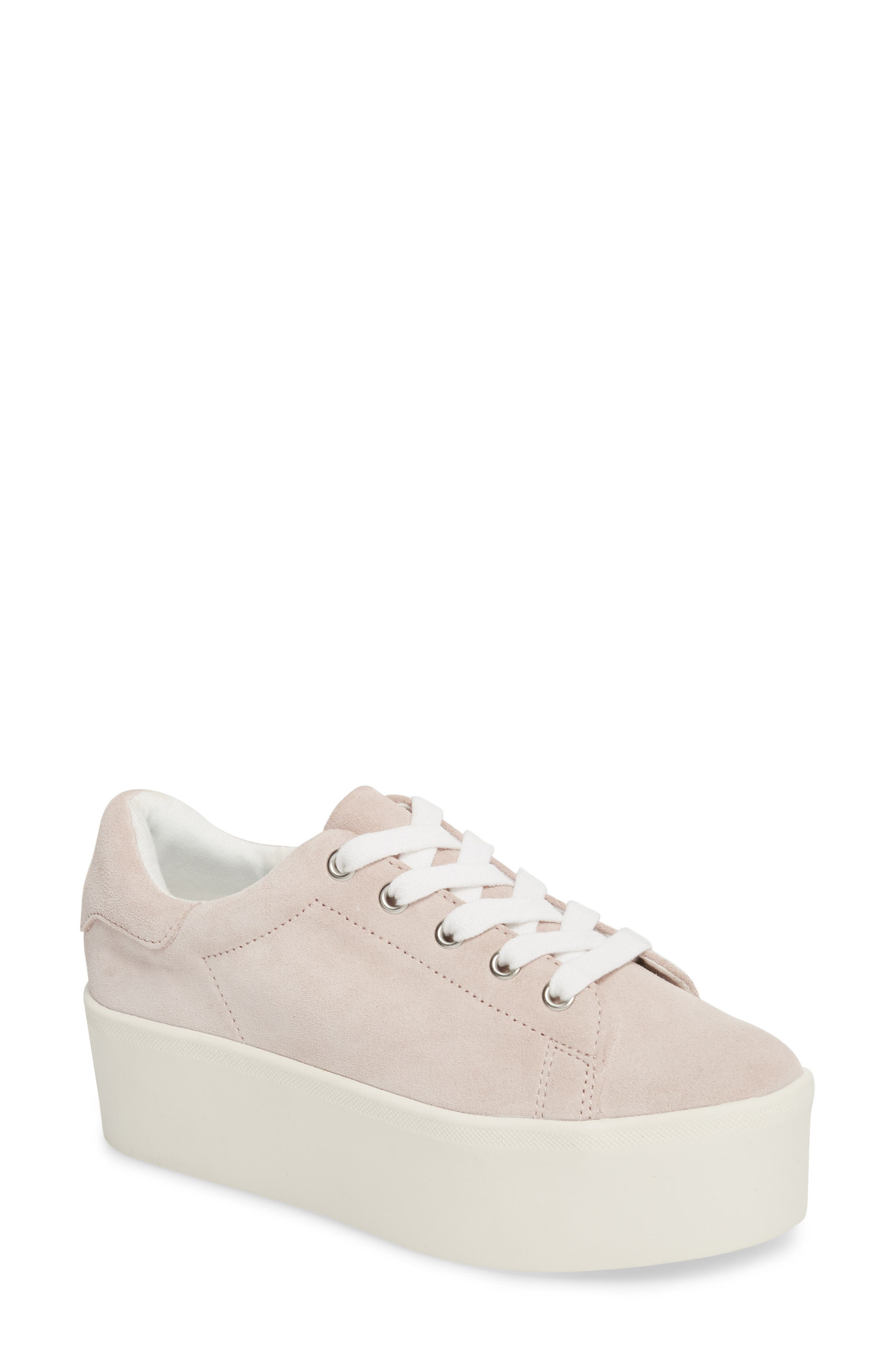 Palmer Sneaker,                             Main thumbnail 1, color,                             Pink Suede